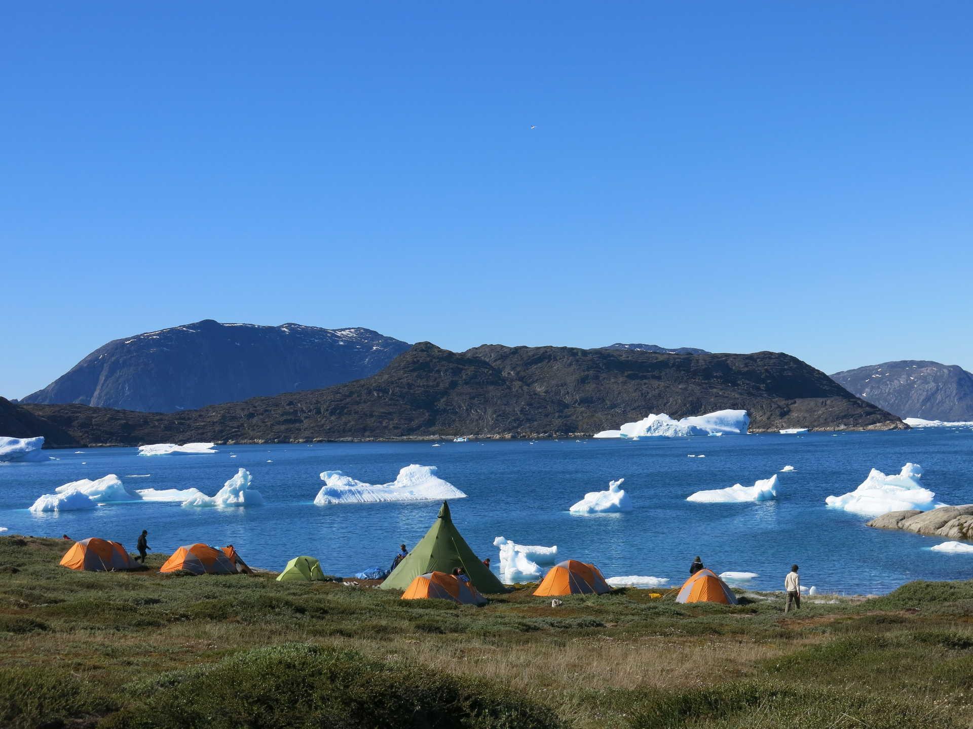 Bivouac au Groenland l'été