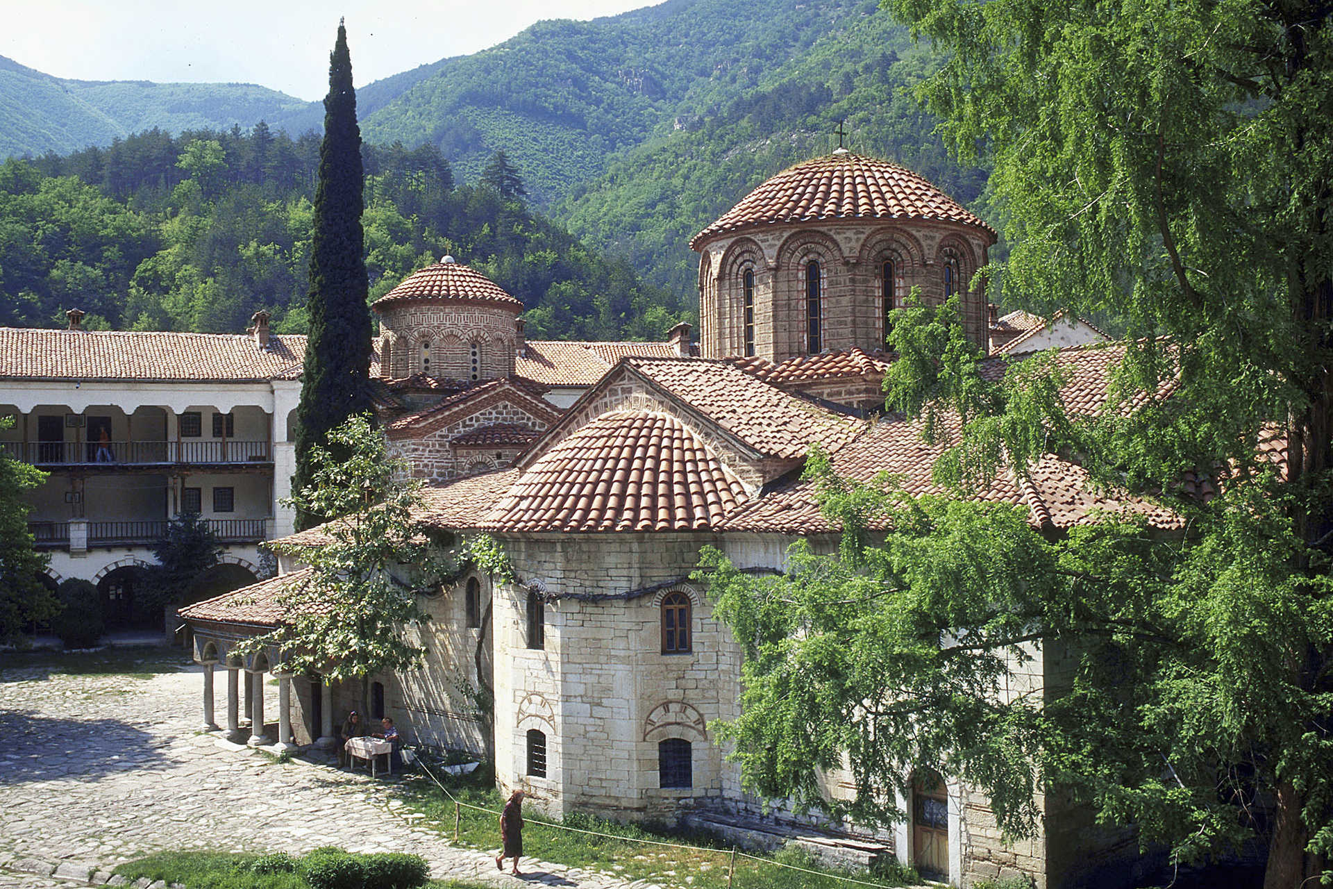 Bulgarie, Massif des Rhodopes, monastère de Batchkovo