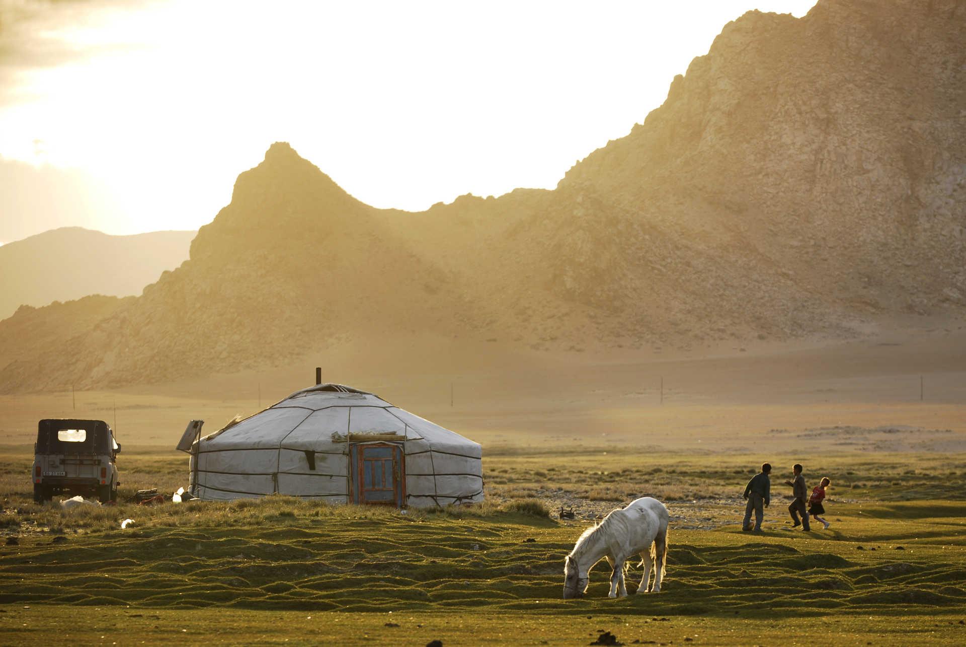 Chez les nomades du Khangai