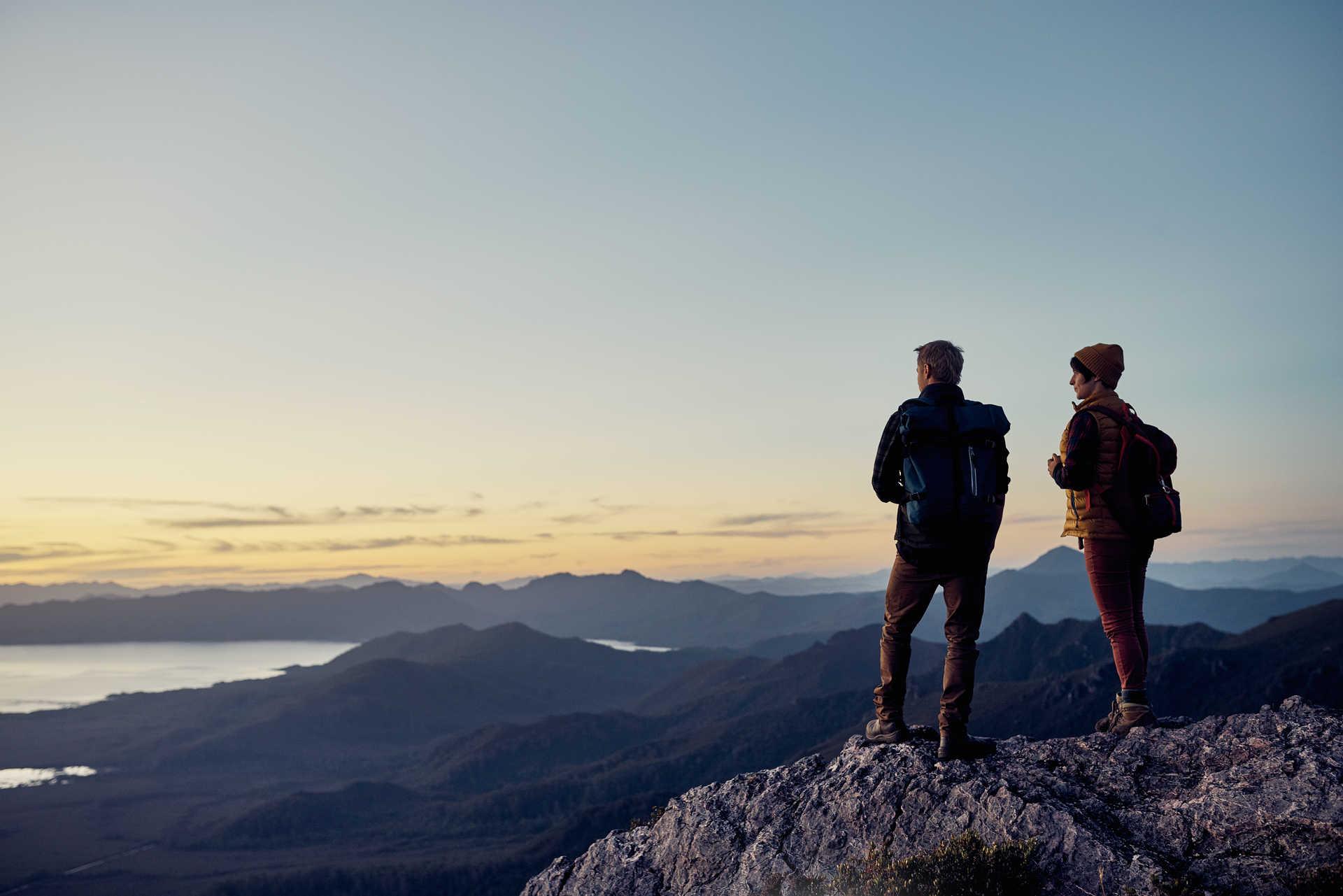 Contemplation des randonneurs au sommet