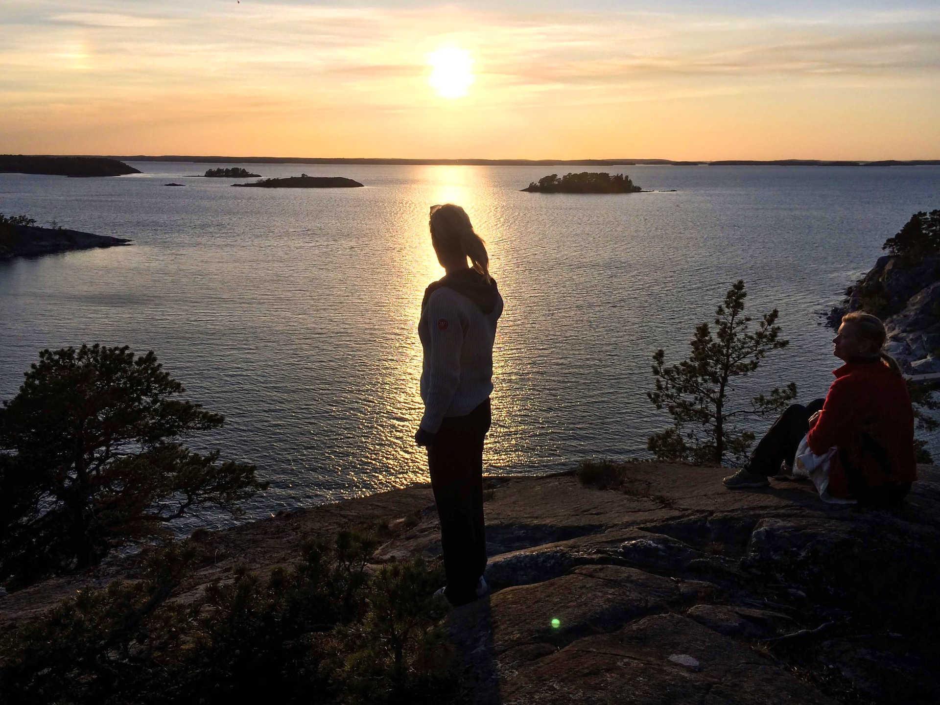 Coucher de soleil sur Mörtö Bunsö