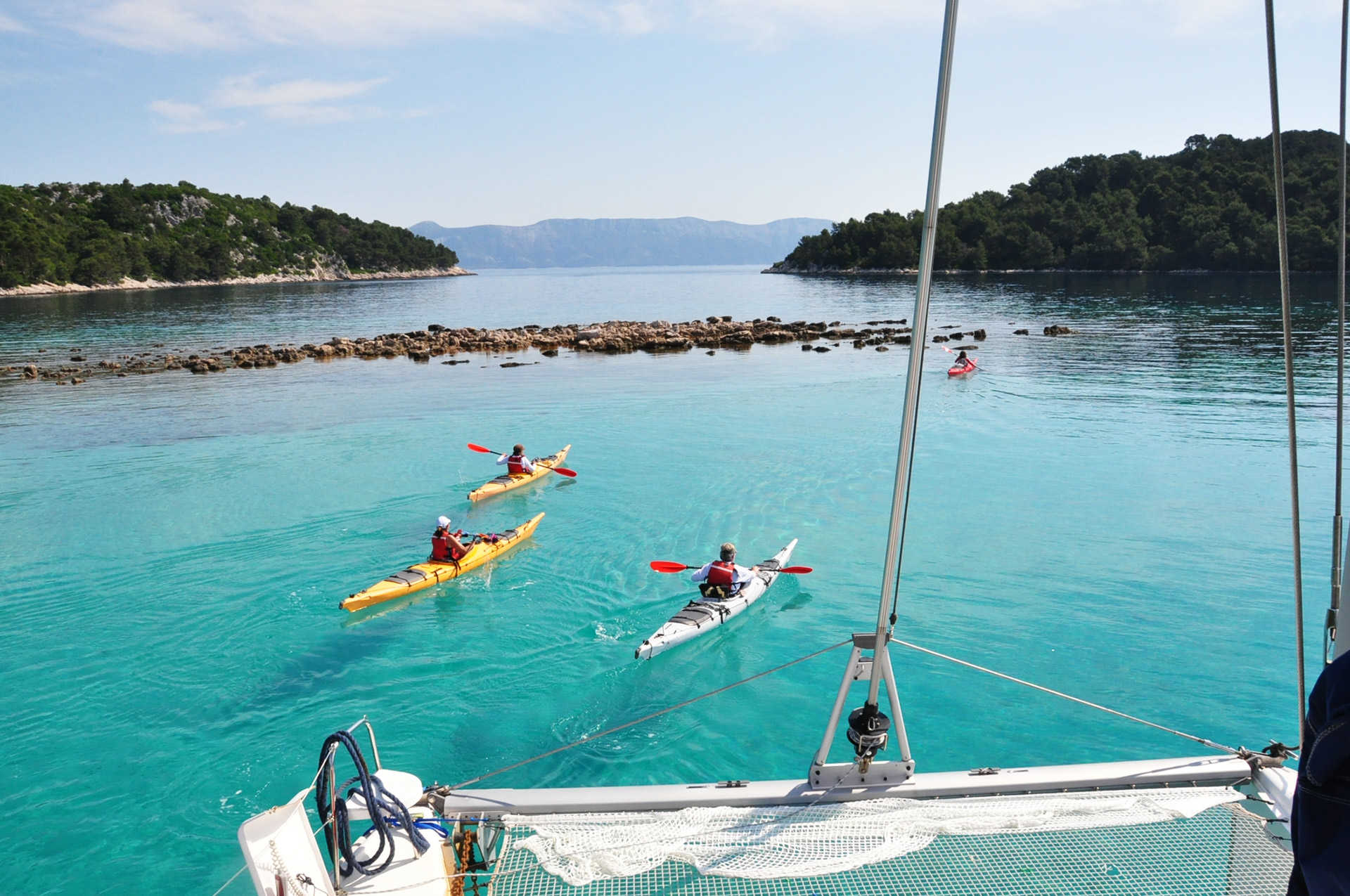 Croatie, kayak dans l'archipel des Kornati
