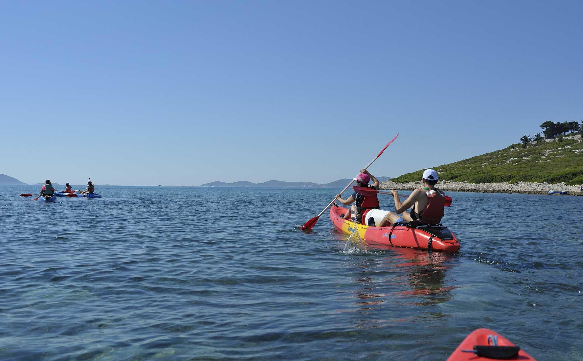 Croatie, kayak en mer Adriatique