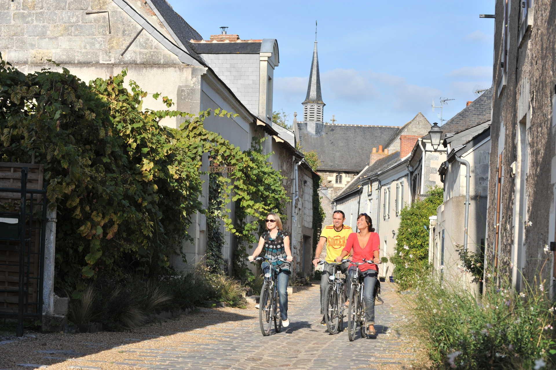 Cyclistes Pays Loire France