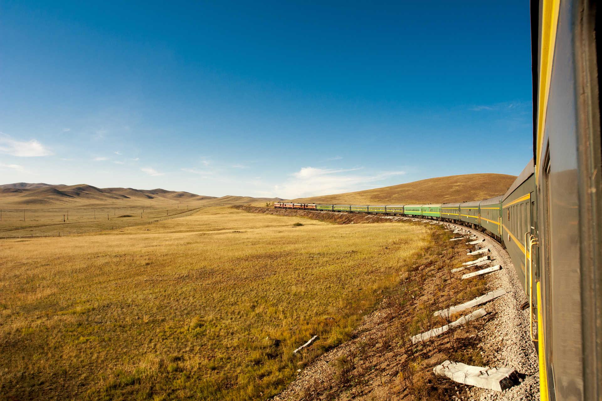 Dans le Trans mongolien ..