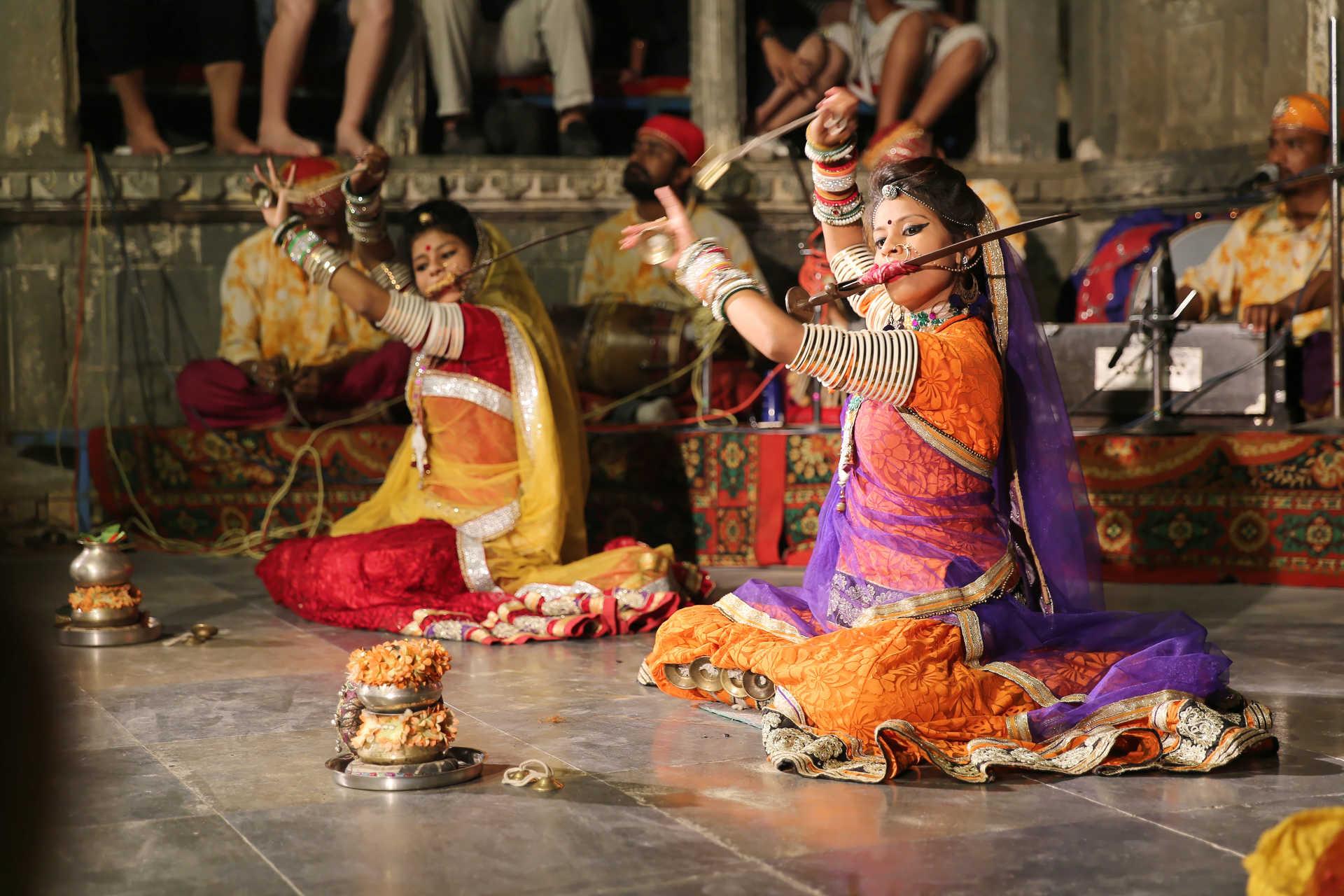 Danseuses musiciennes dans la Rajasthan