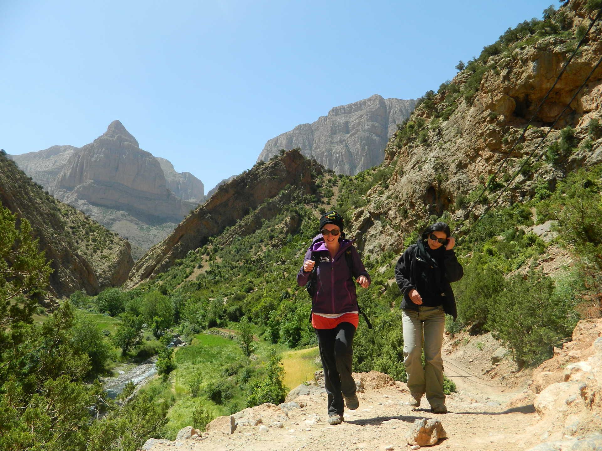 Dolomites marocaines, cirque de Taghia, Maroc