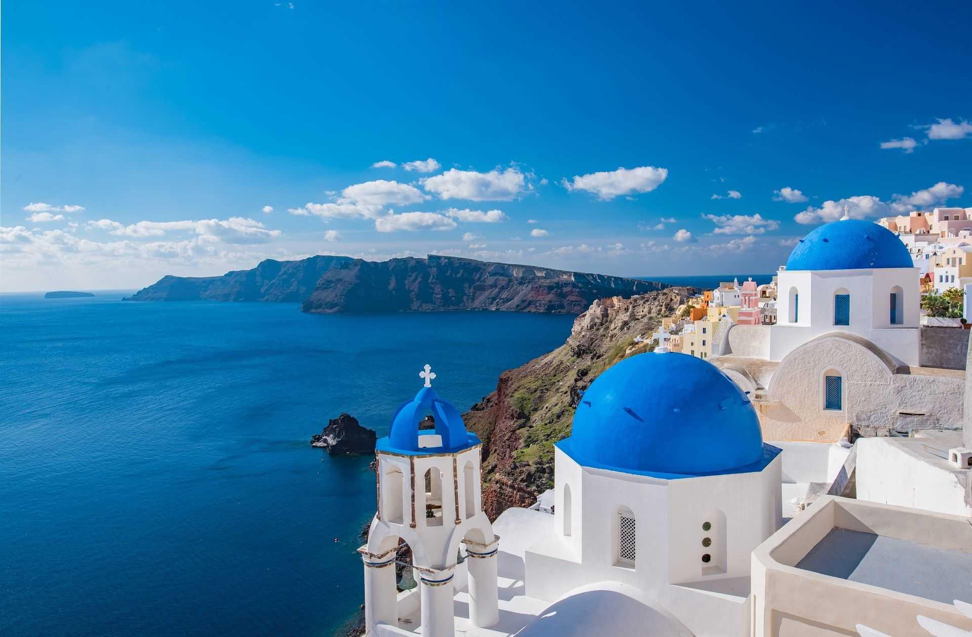 Eglise de l'île de Santorin dans les Cyclades