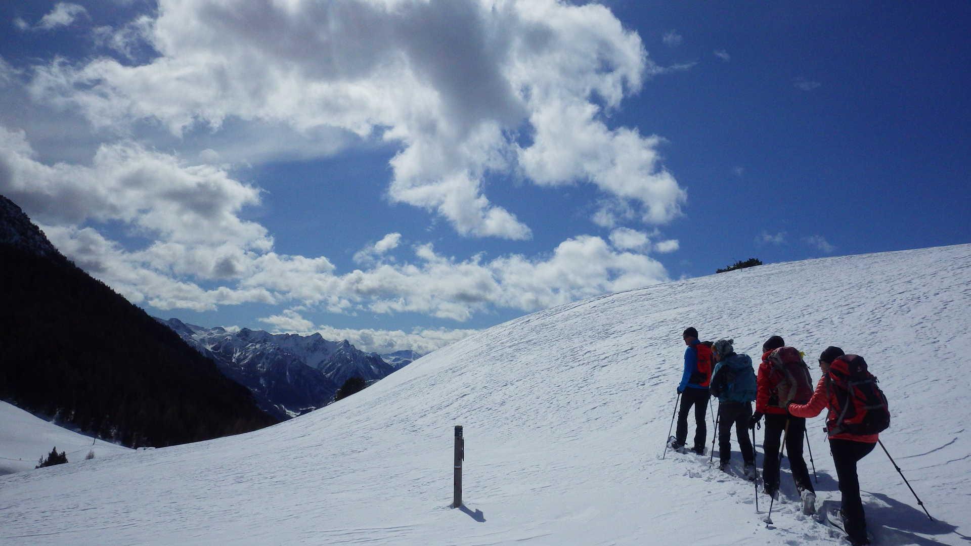 en raquettes au col de Peas, Queyras, Alpes du sud