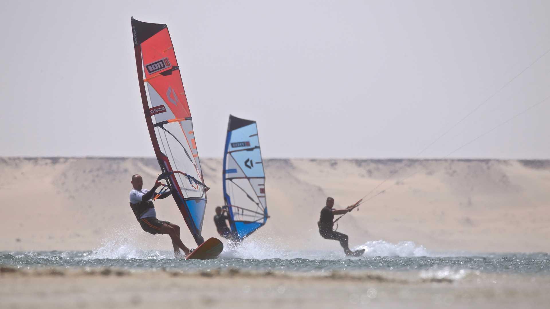 windsurf et kitesurf au Ion club Dakhla Lagoon