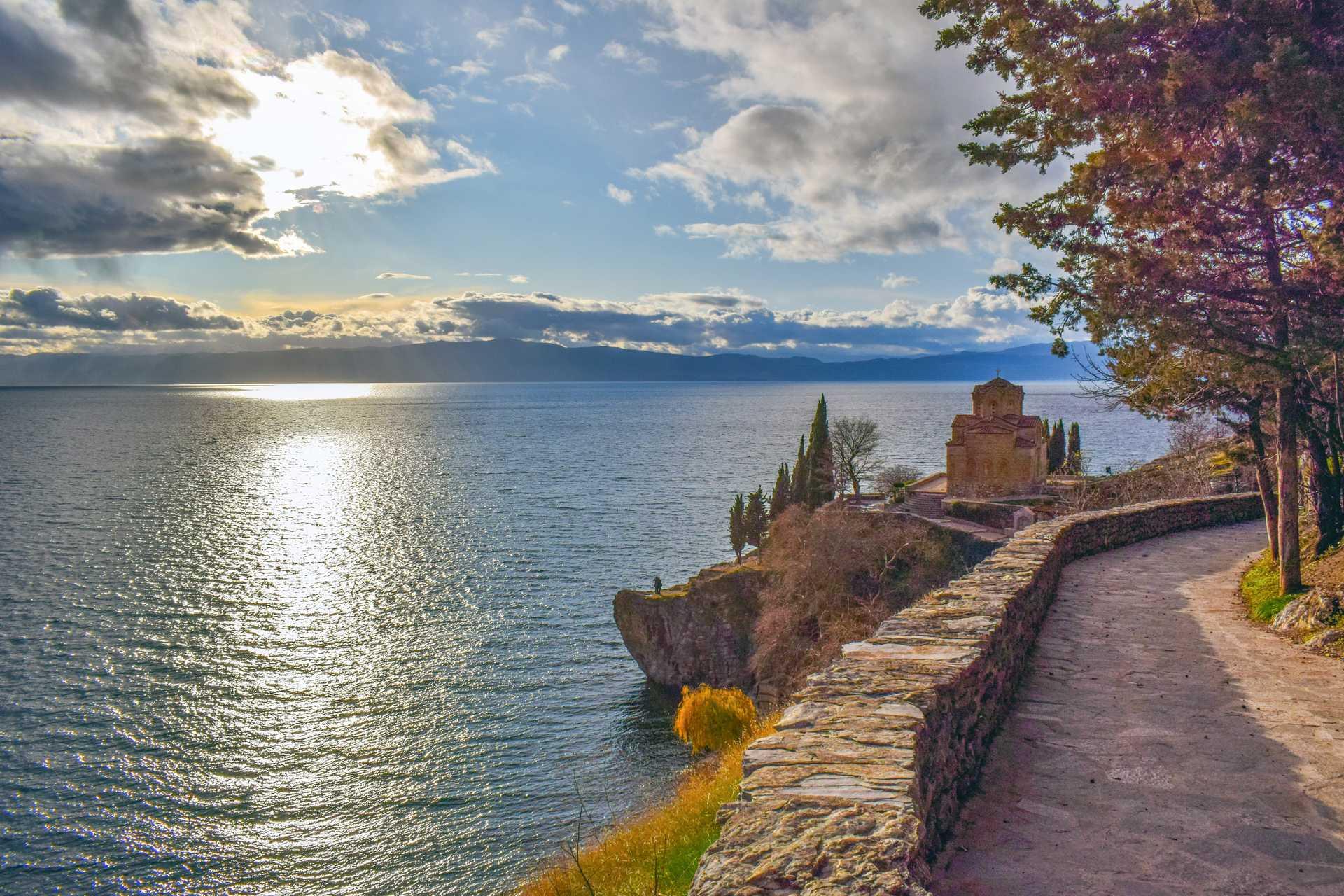 Lac d'Ohrid, Albanie