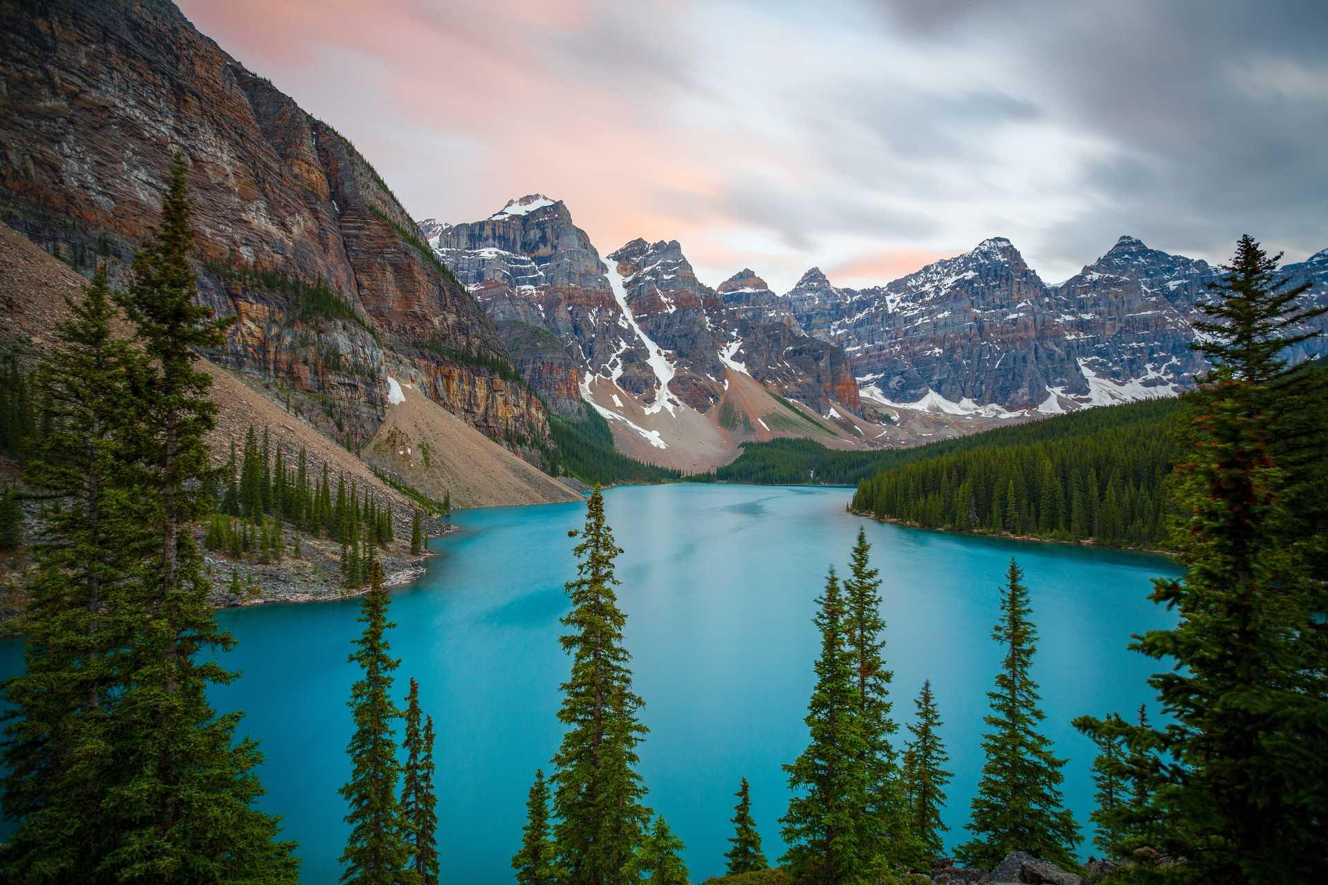 Lac Moraine dans le parc de Banff