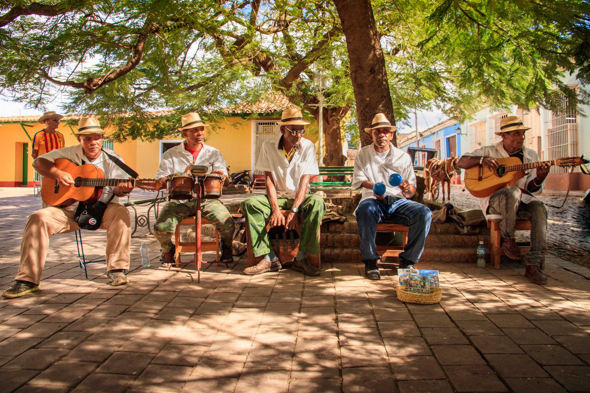 Musiciens à Trinidad