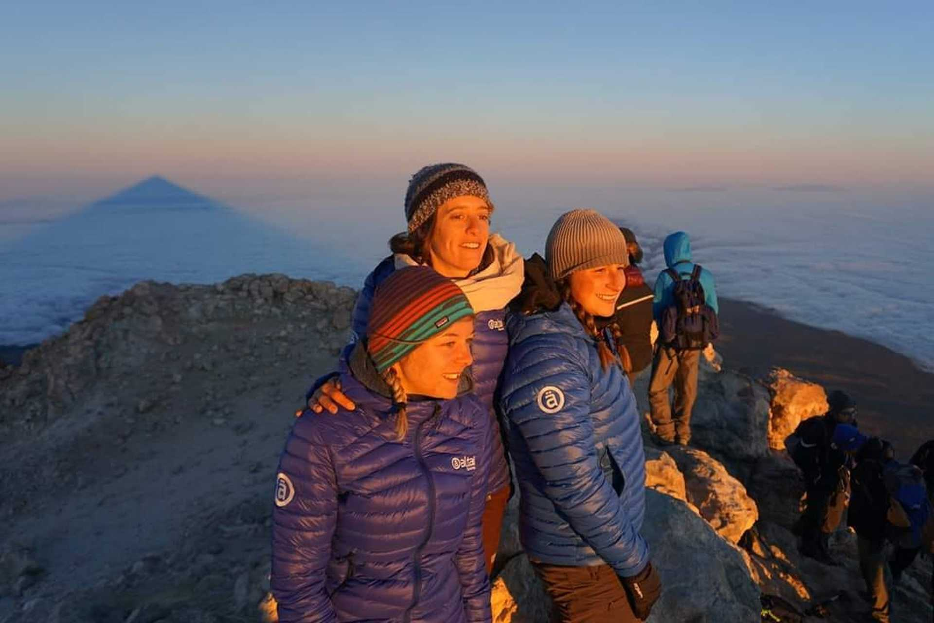 Notre équipe locale au sommet du Teide