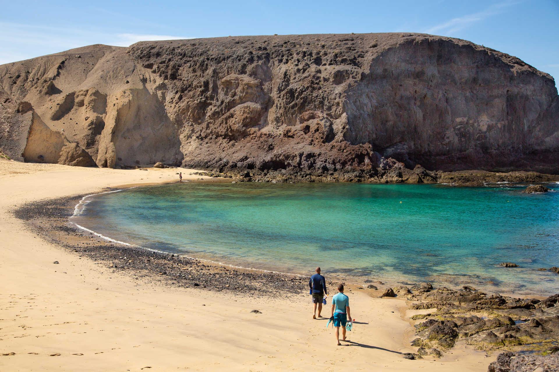 Plage de Papagayo à Lanzarote