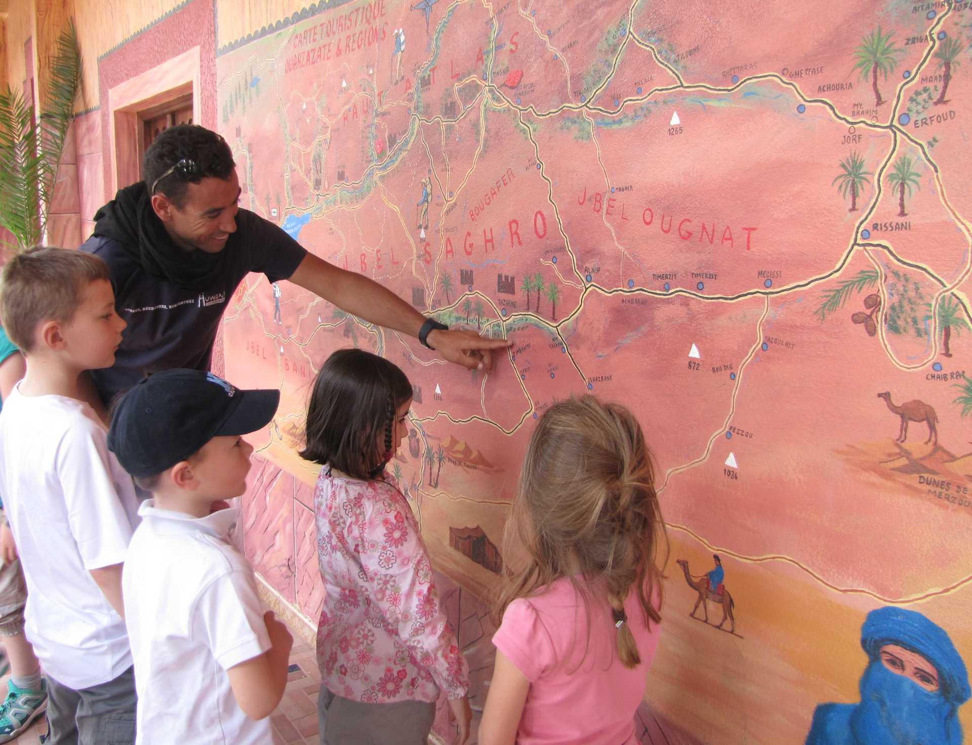Présentation du Sud Maroc aux enfants