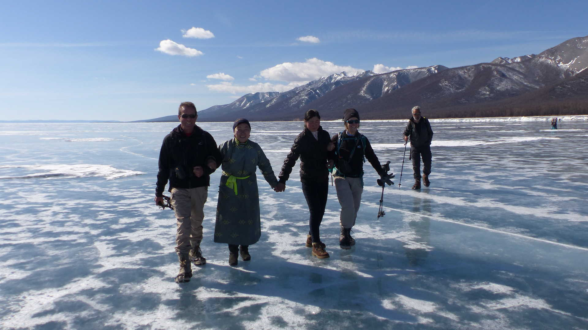 Randonné sur le lac Khovsgol en glace