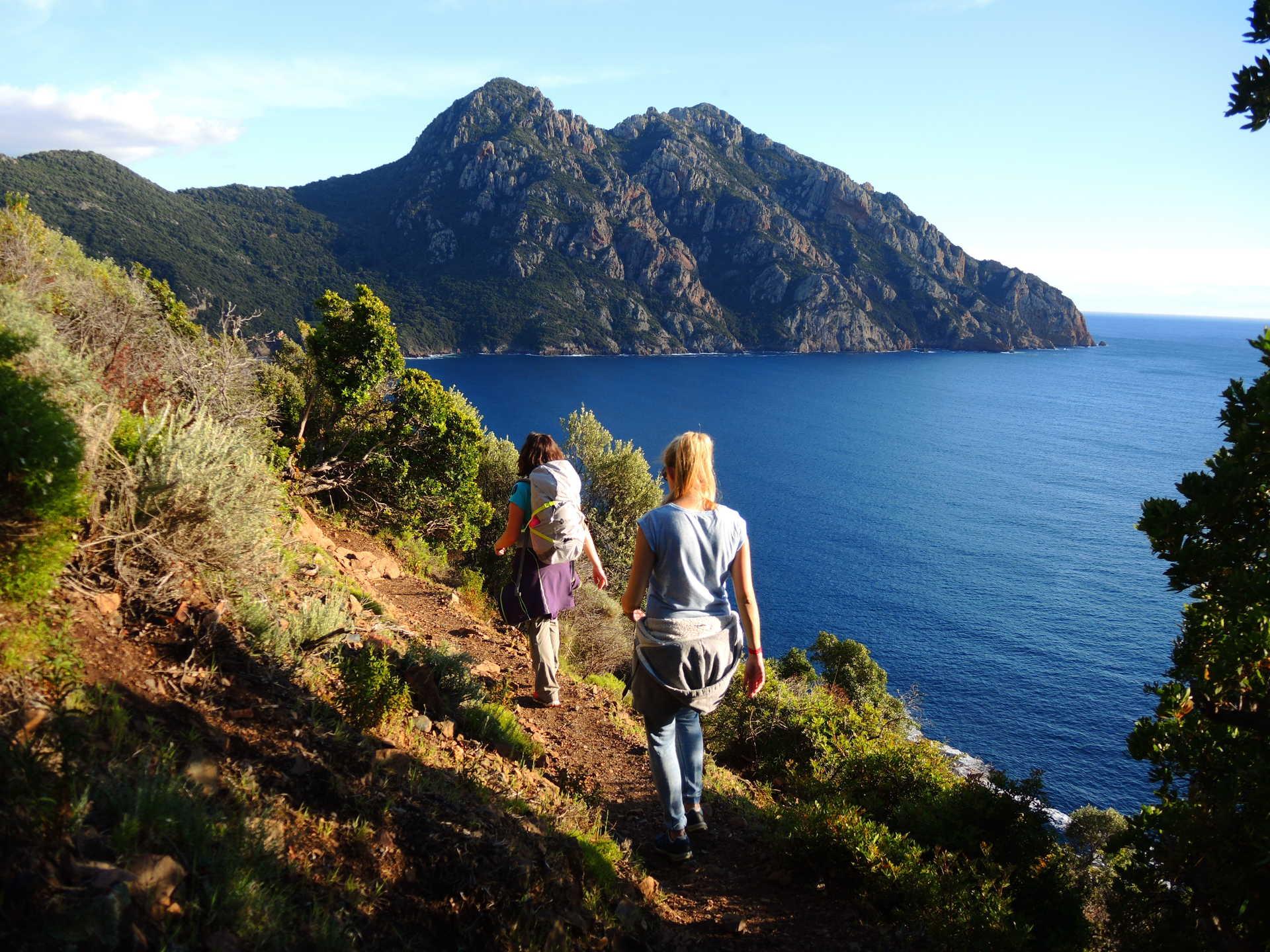 Randonnée côtière en Corse