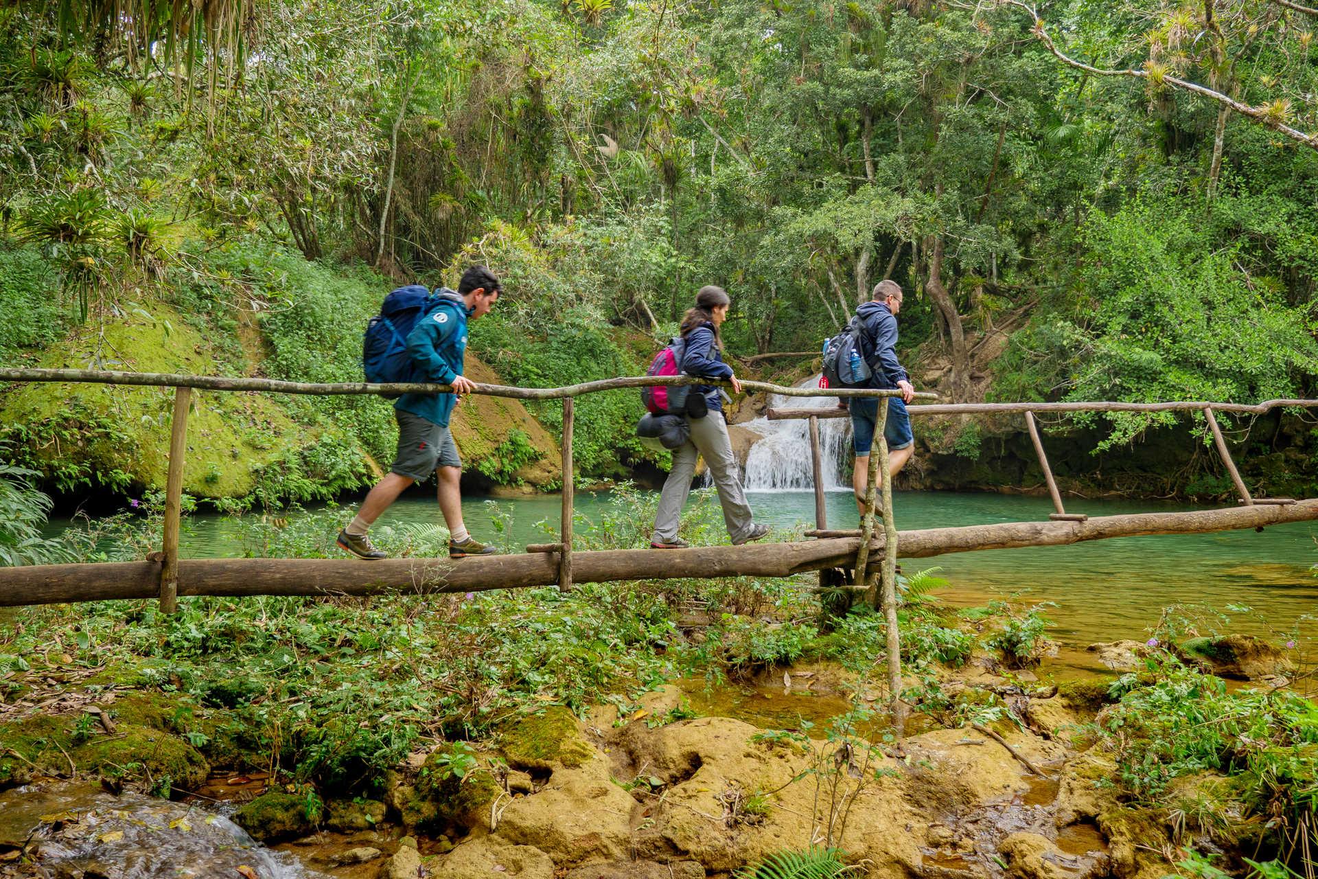 Randonnée dans le parc naturel de Topes de Collantes