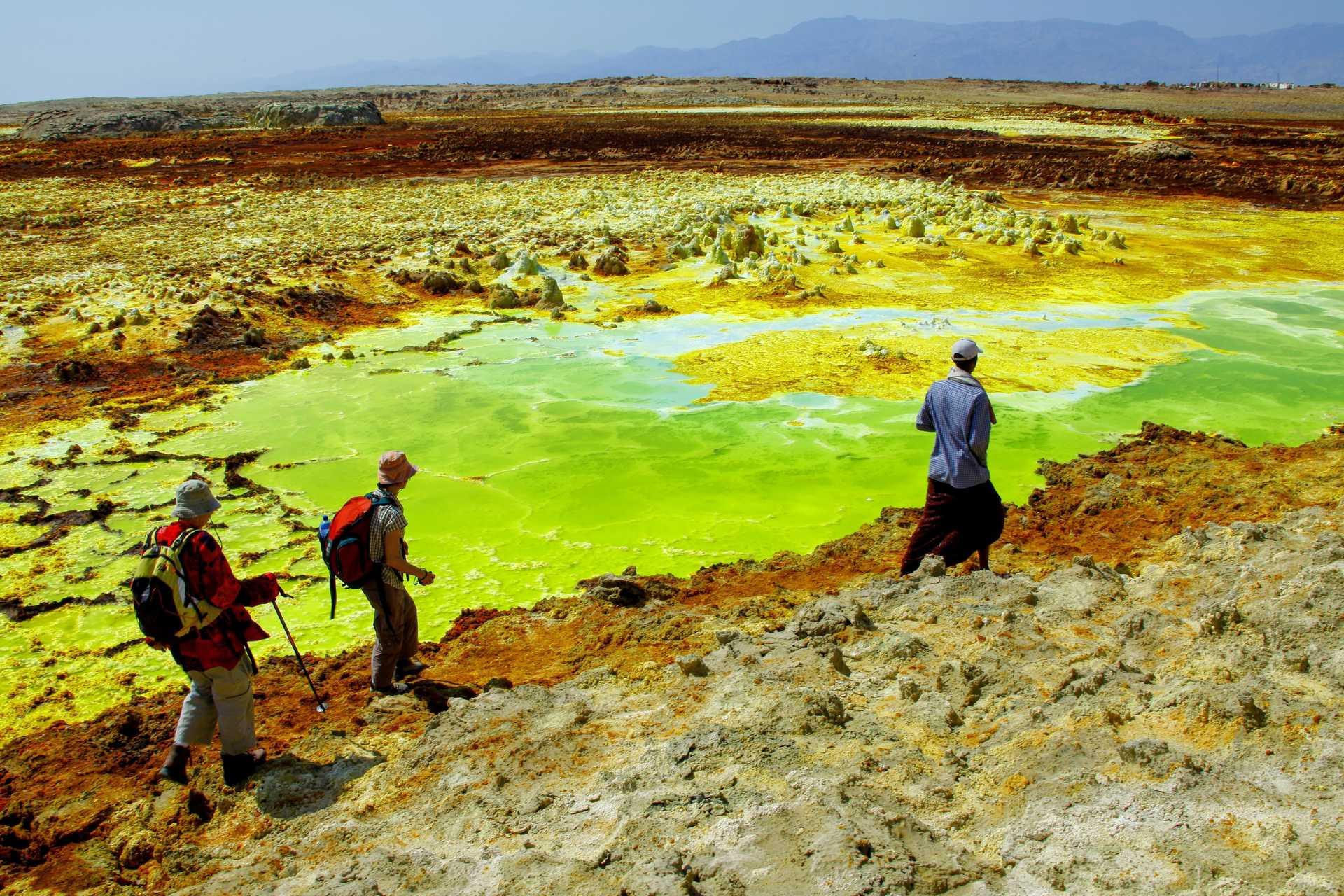 Randonnée dans les couleurs du volcan Dallol
