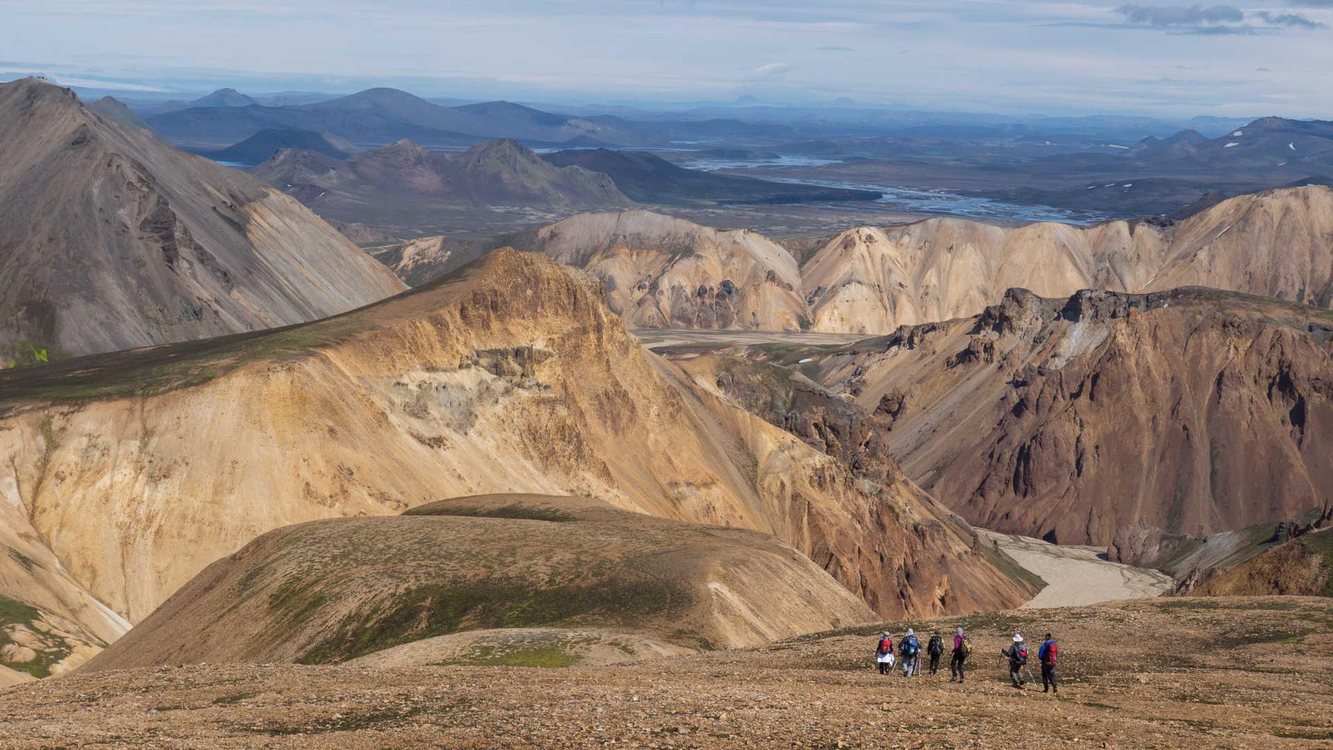Randonnée dans les montagnes colorées de Landmannalaugar