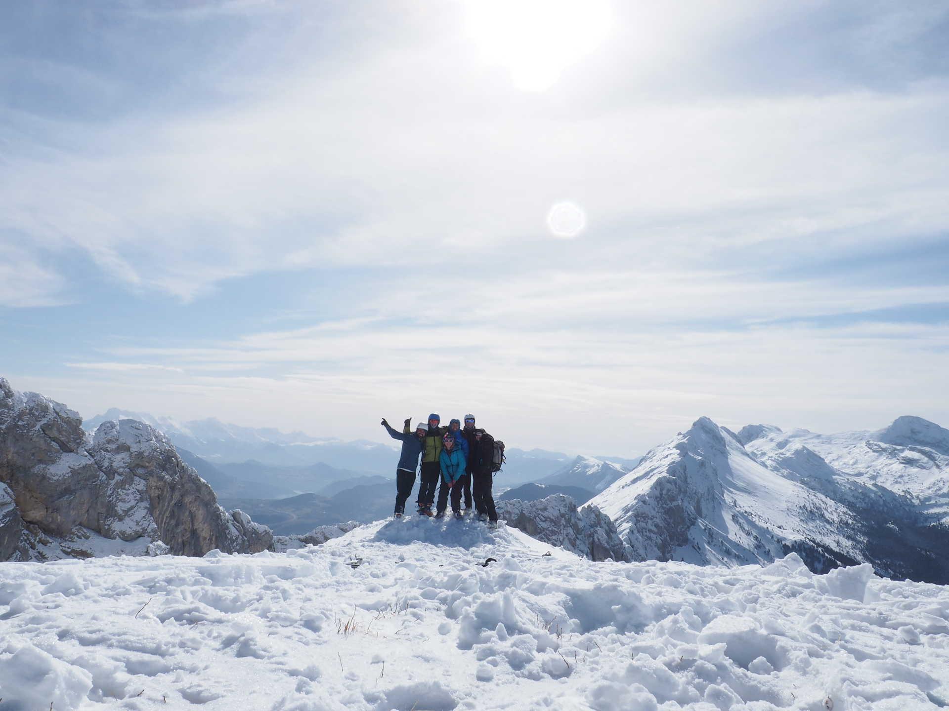 Randonnée en hiver dans le Vercors