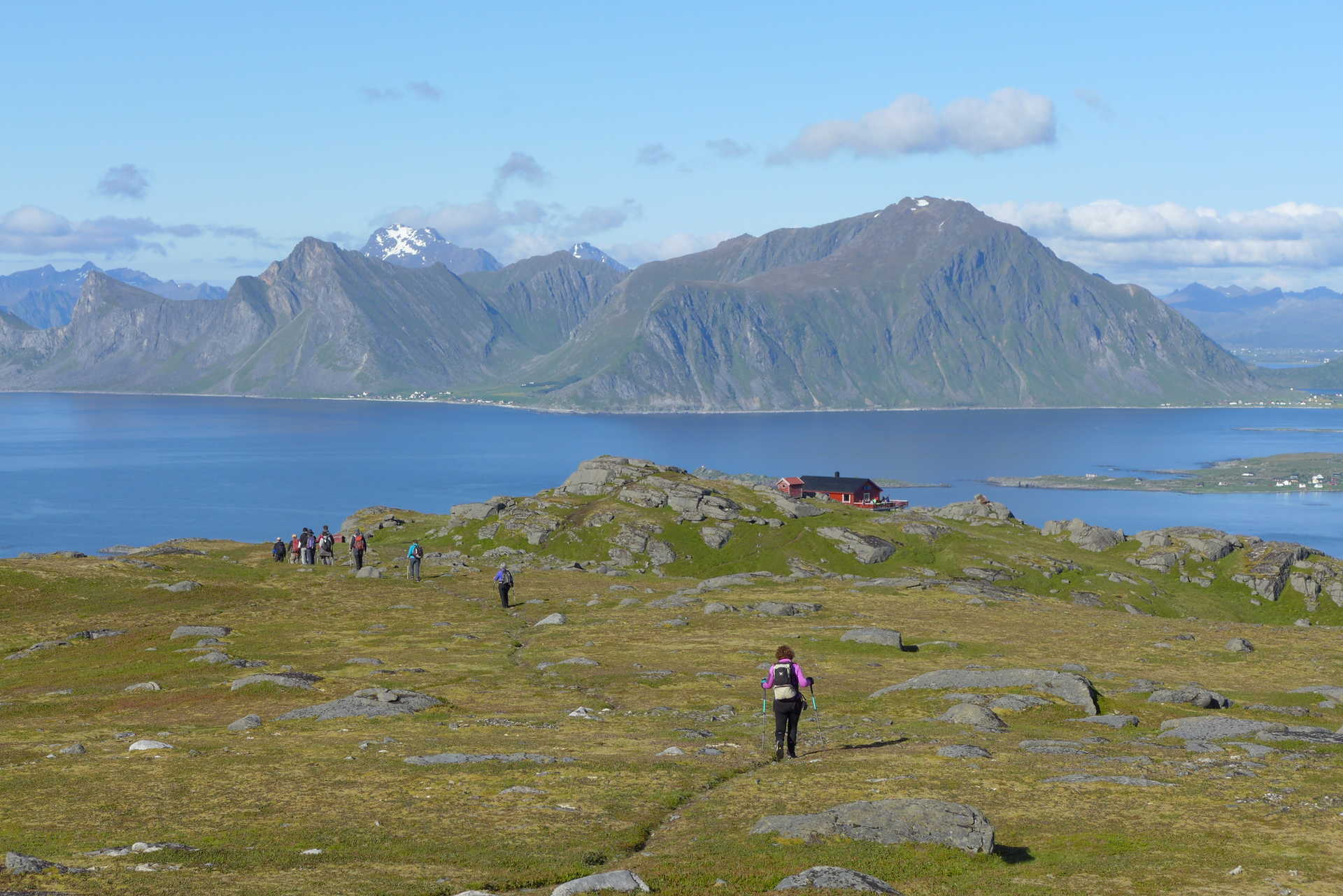 Randonnée en Norvège l'été