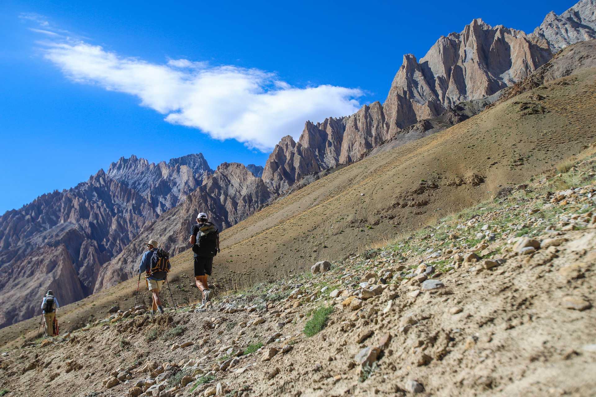 Randonneurs au Zanskar, Ladakh
