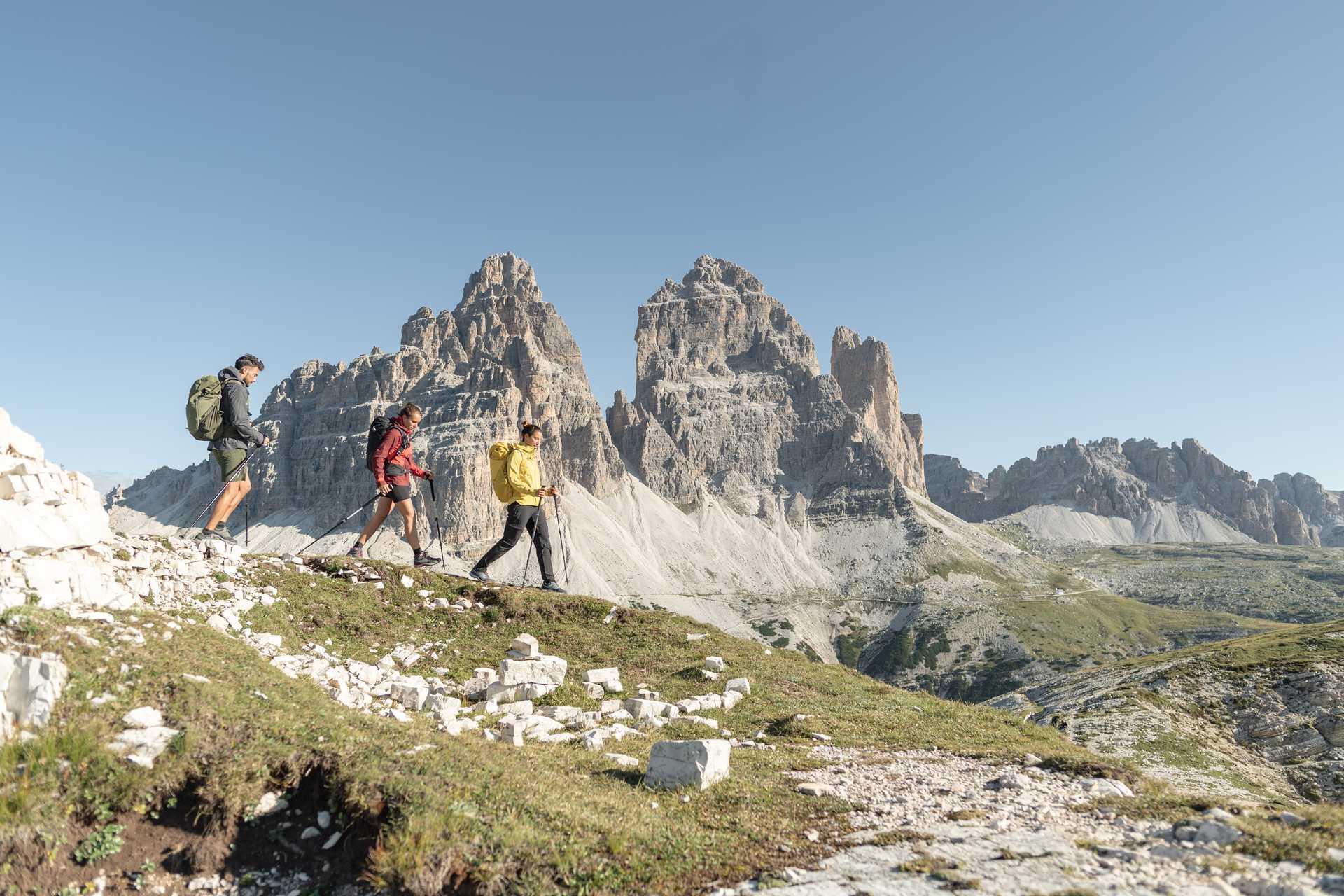 Randonneurs dans les Dolomites