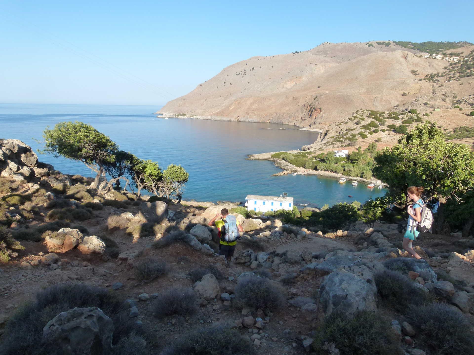 Randonneurs de Loutro à Agia Roumeli