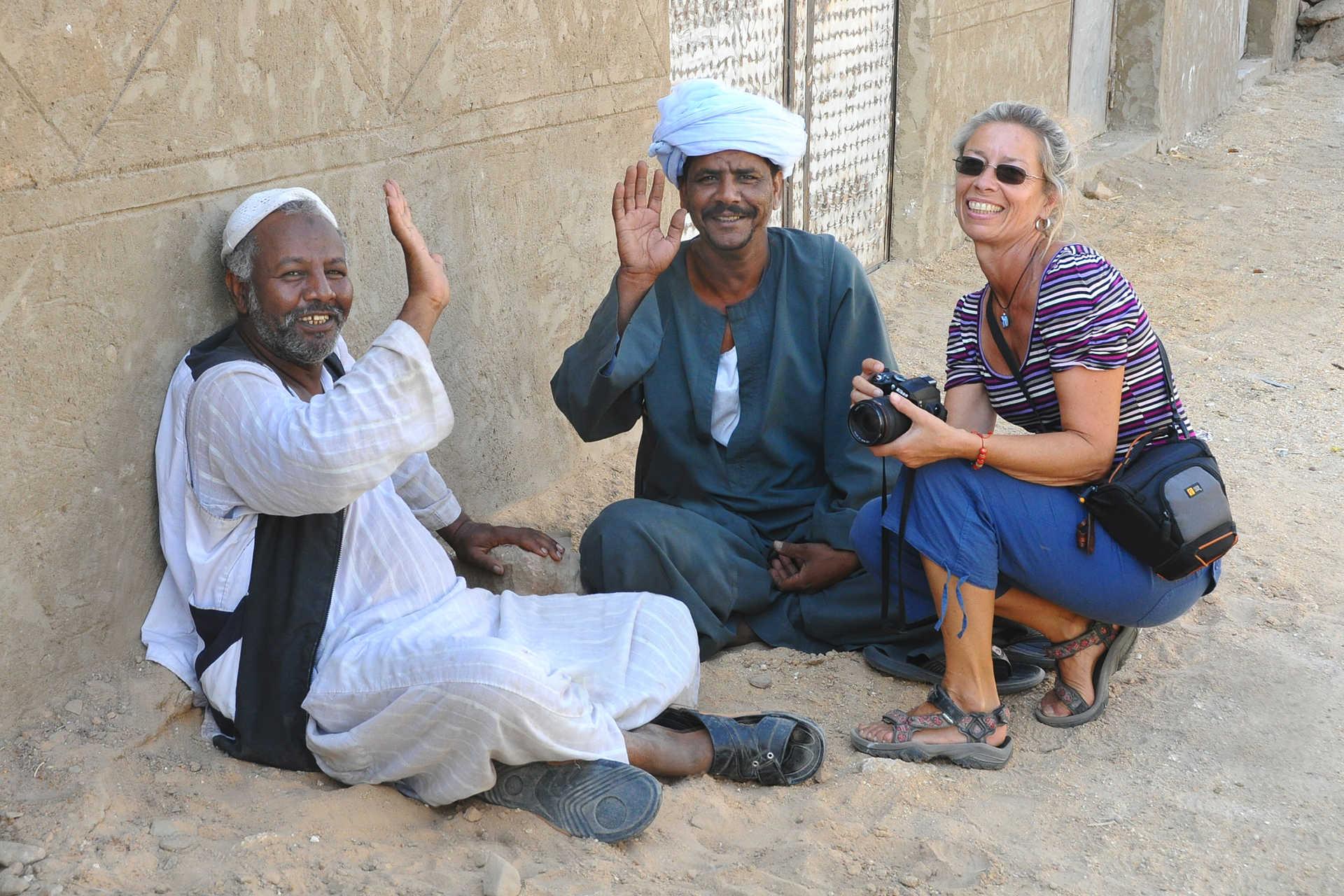 Rencontre avec les habitants sur le Nil