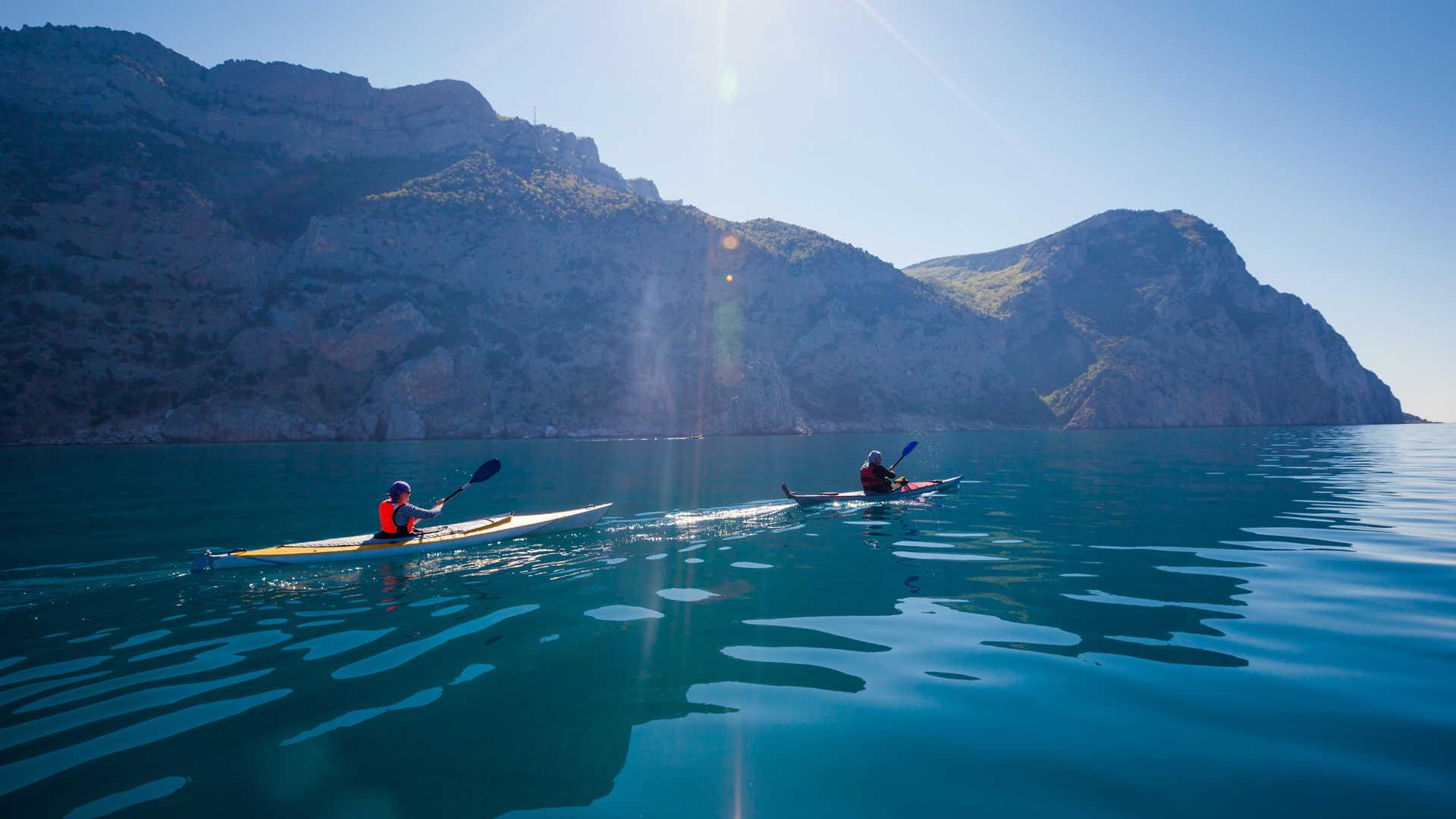 Sortie en kayak sur l'Adriatique, Croatie