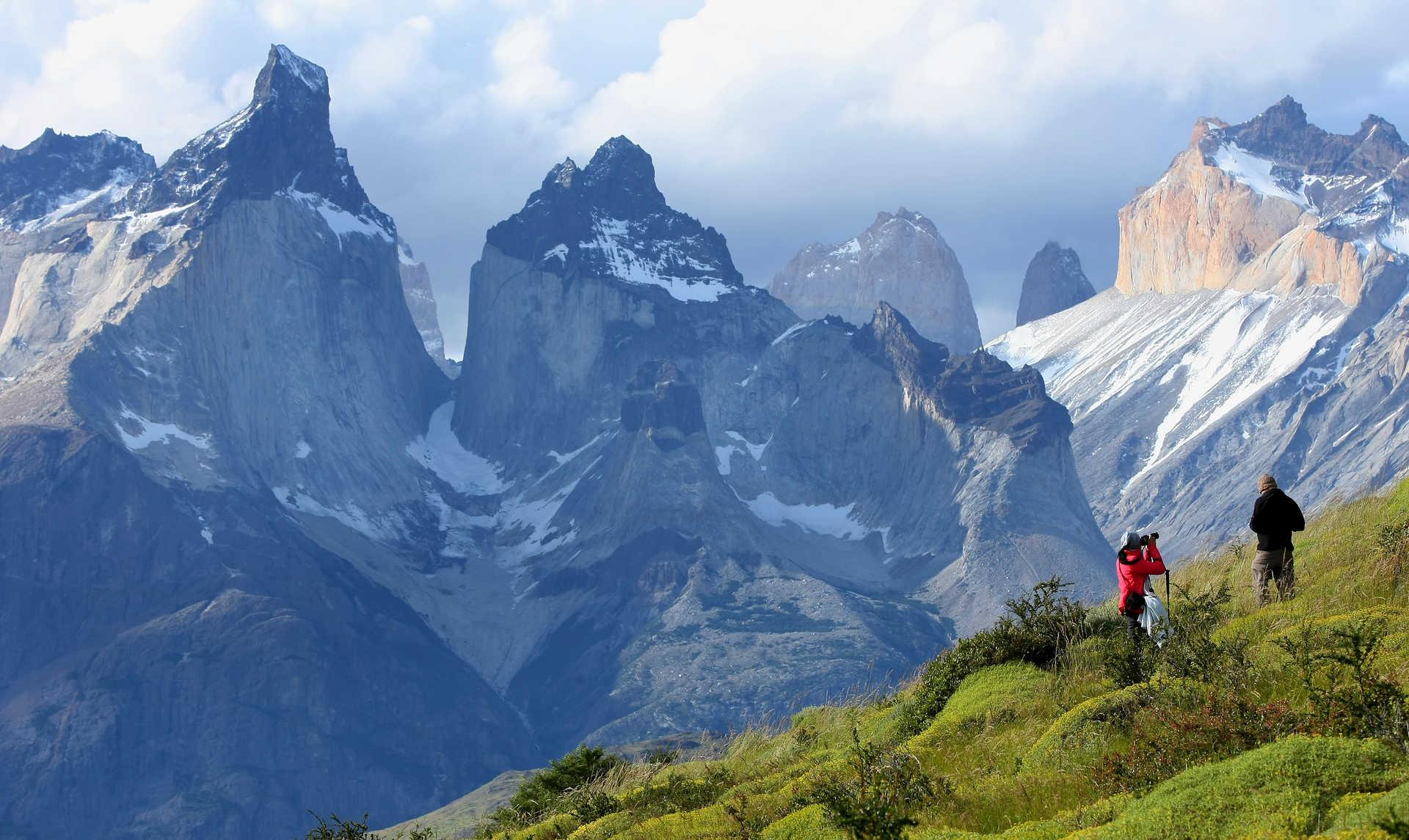 Superbe point de vue lors d'une randonnée dans le parc national Torres del Paine