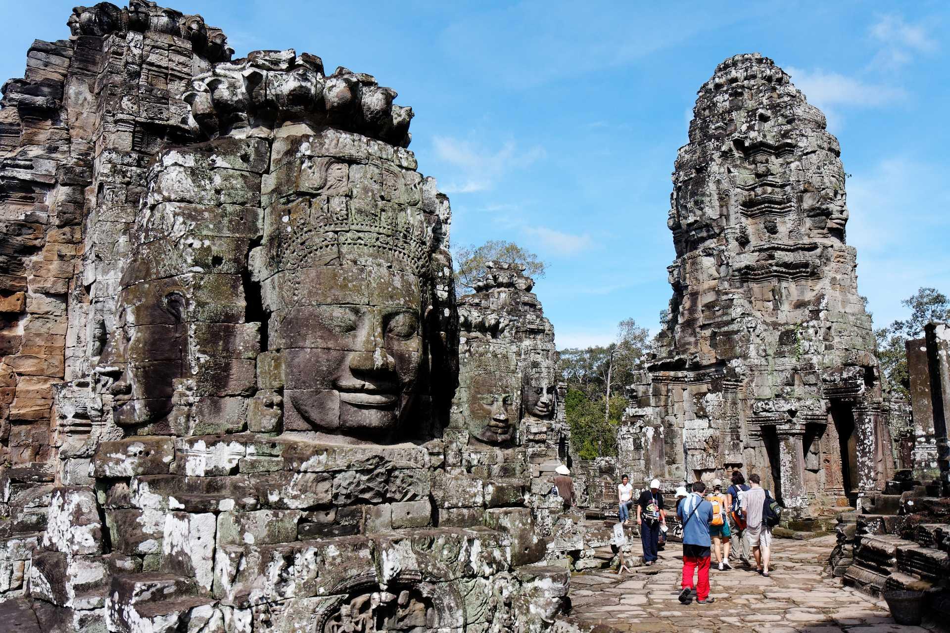 Temple du Bayon, Angkor, Cambodge