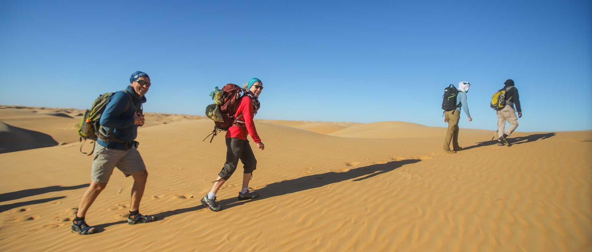 Trek dans les dunes du Ouarane, Mauritanie