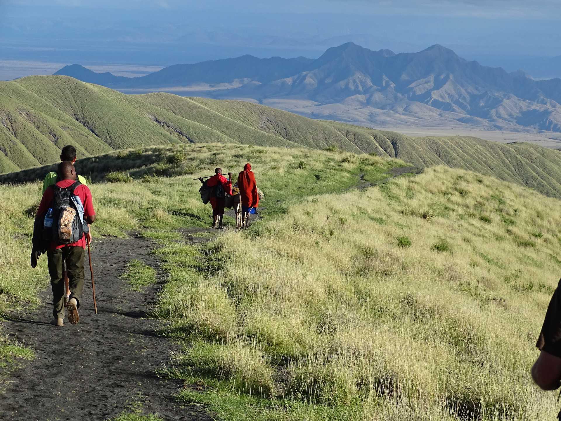 Trek masai dans la vallée du Rift