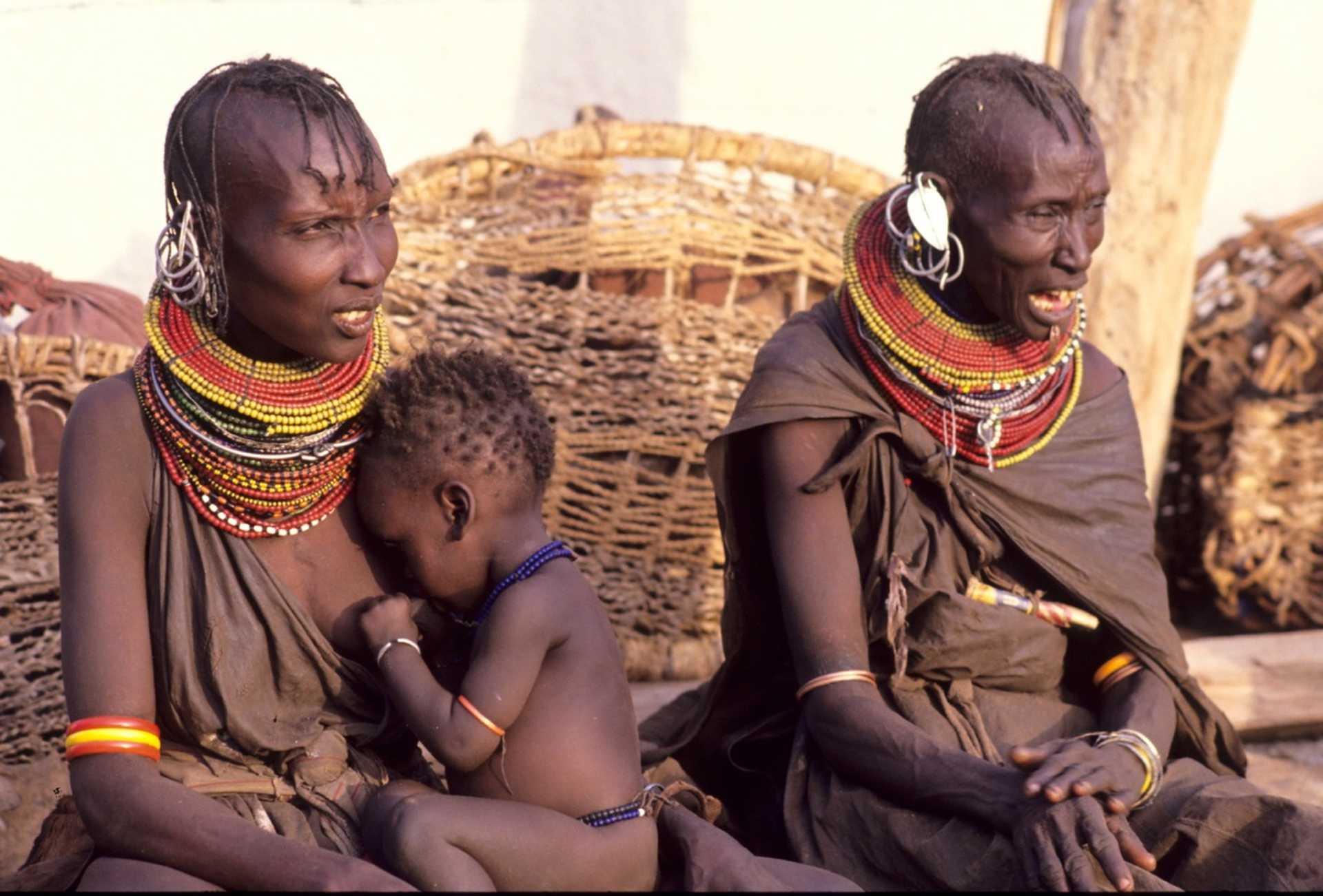 Tribu Nilotique près du Lac Turkana