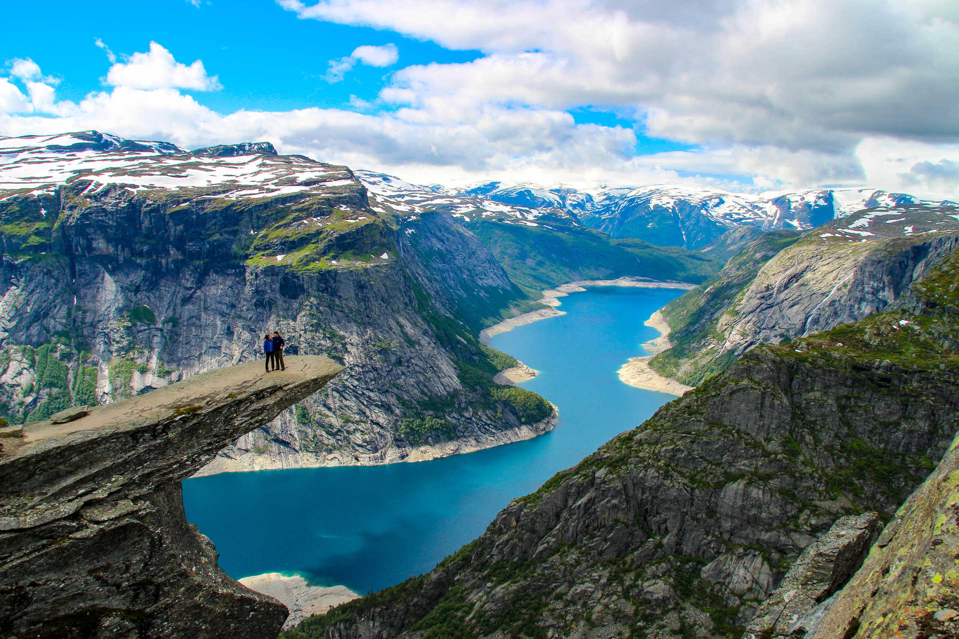 Trolltunga, Sud de la Norvège