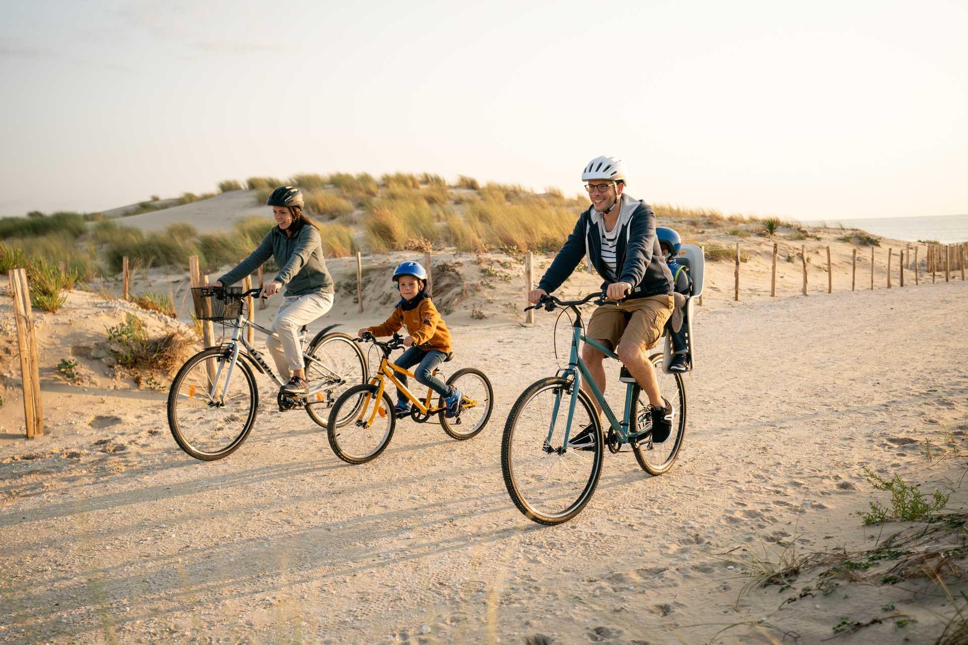 Vélo en famille dans les Landes