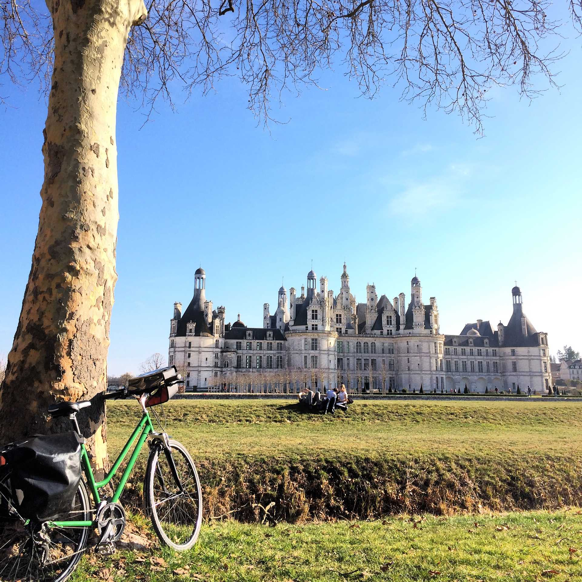 Vélo Vert devant Chambord