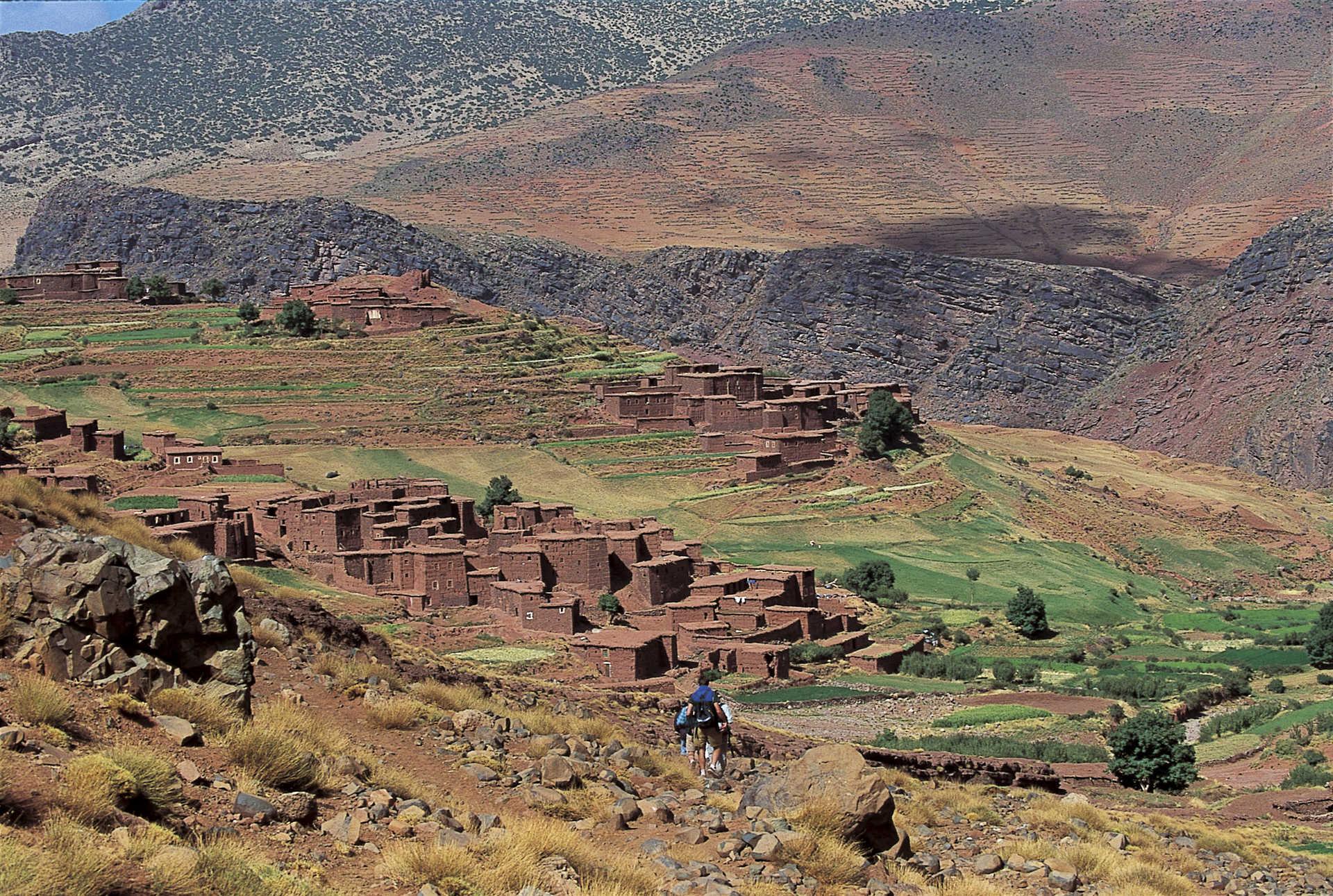 Village de Megdaz, vallée de la Tessaout, Atlas Maroc