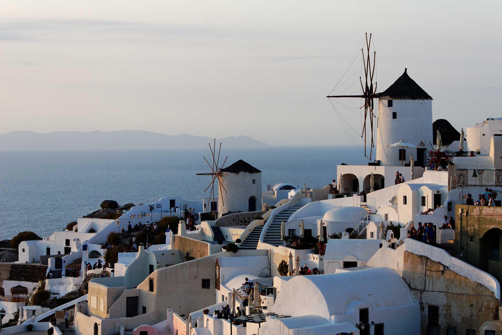 village et moulins de Santorin