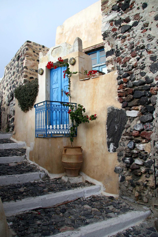 Village sur l'île de Andros, dans les Cyclades