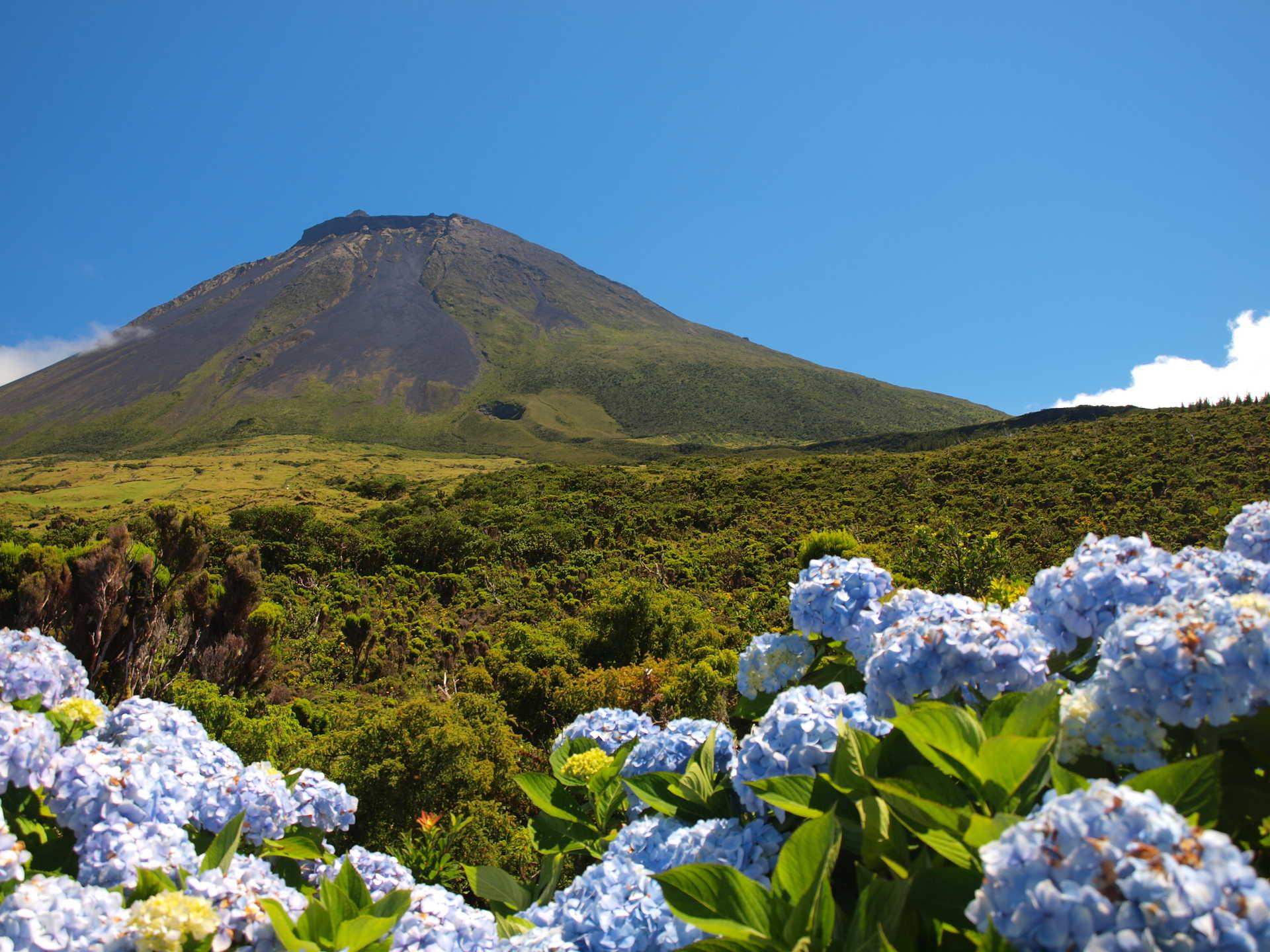 Volcan de l'île de Sao Miguel aux Açores