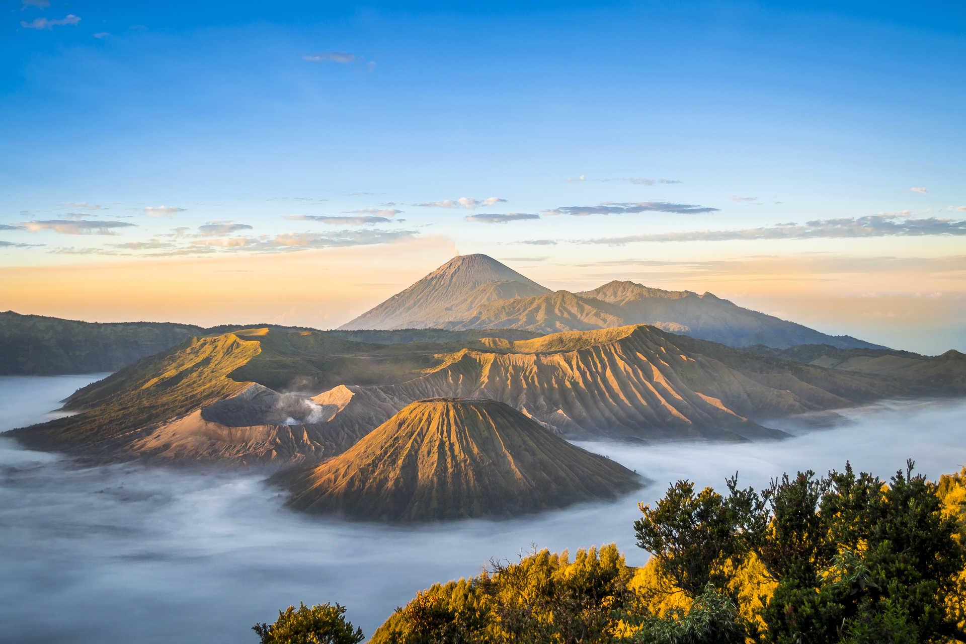 Volcans Bromo, Java, Indonésie