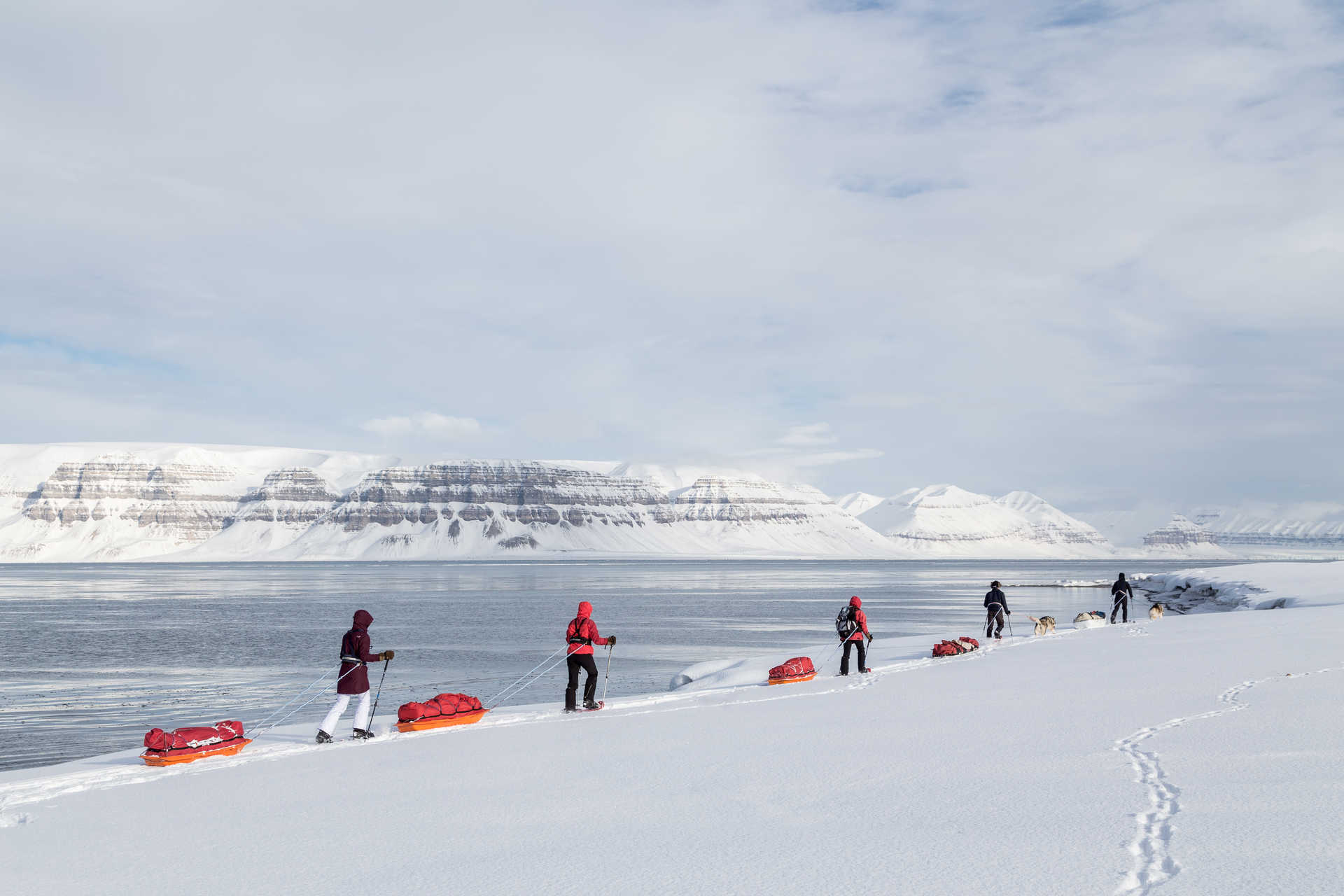 Voyage pays nordique hiver Svalbard