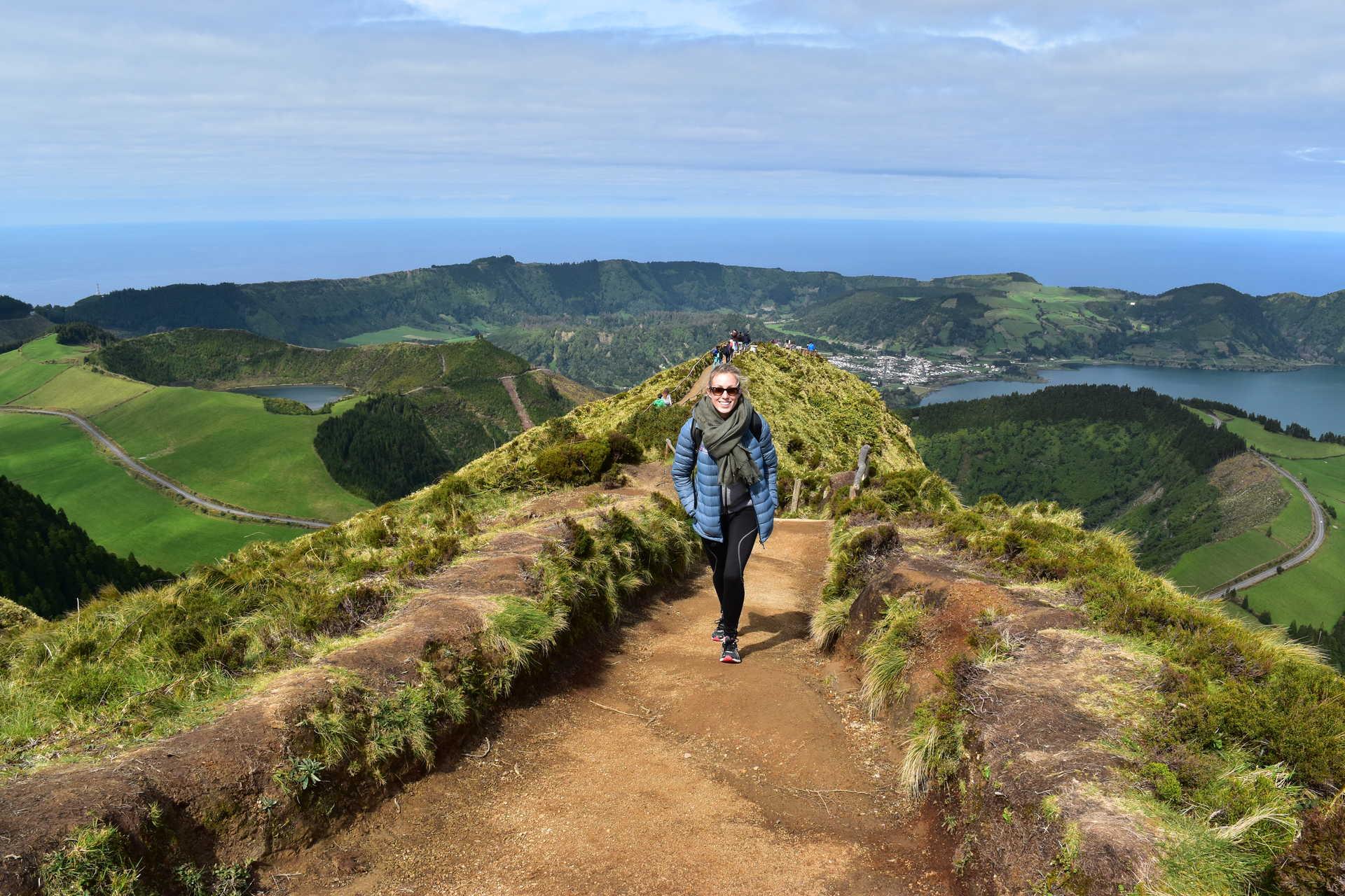 Vue de Sete Citades aux Açores