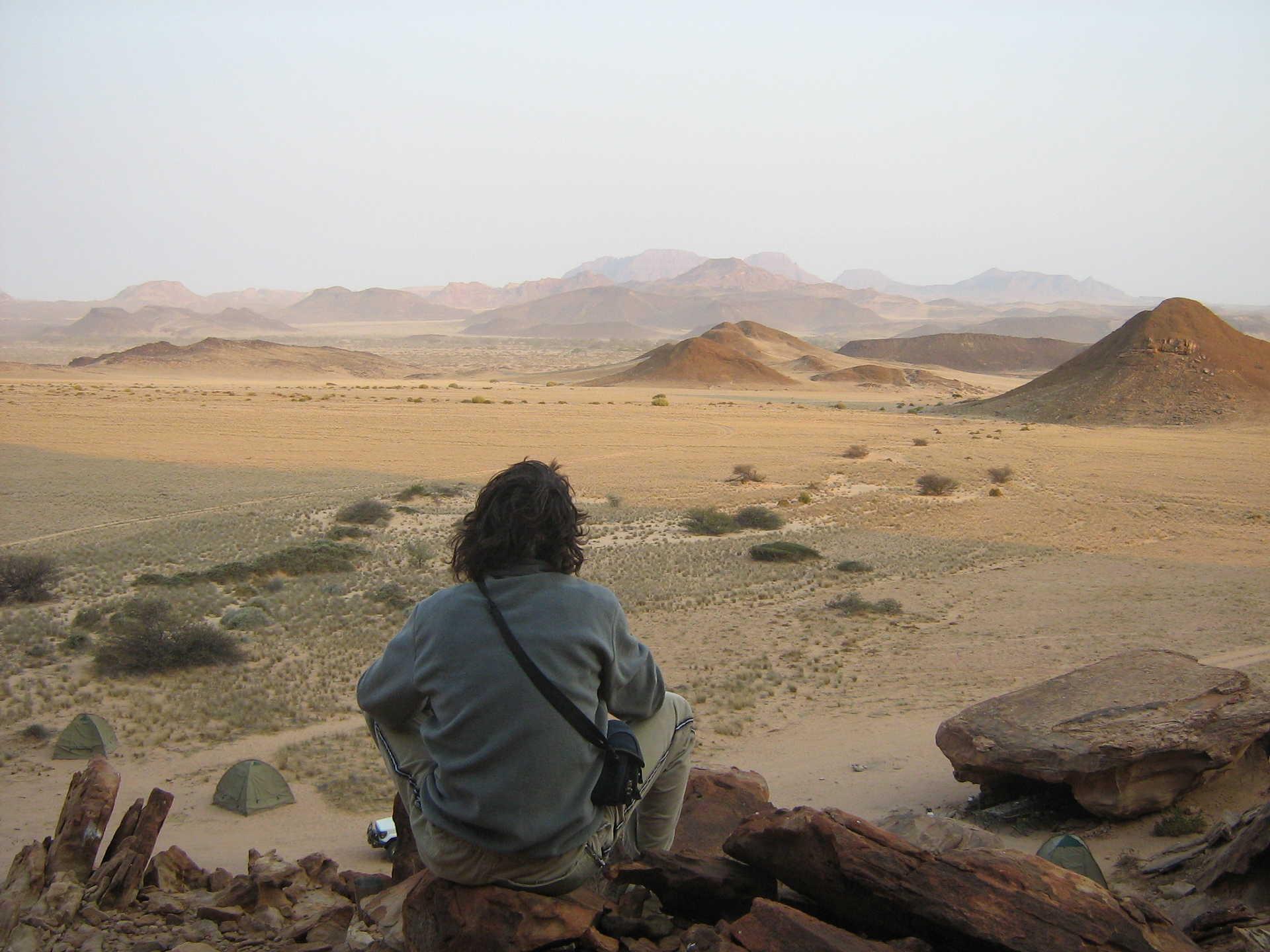 Vue panoramique du Spitzkoppe en Namibie