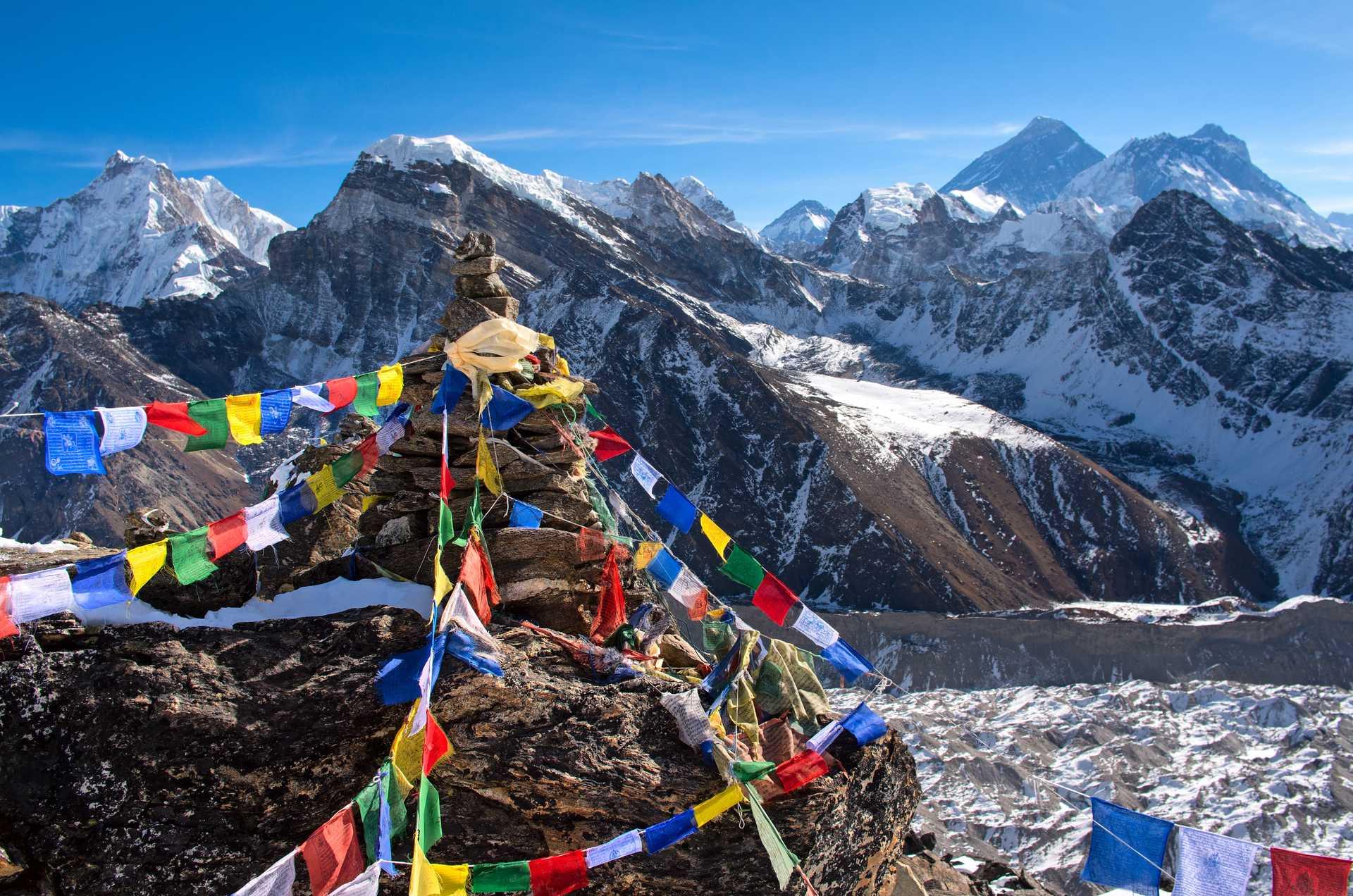 Vue sur l'Everest depuis Gokyo ri