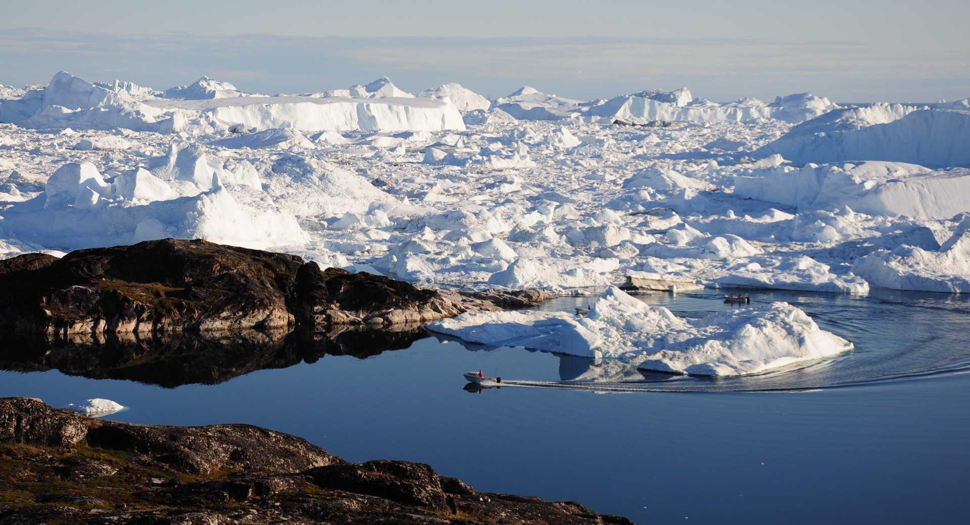 Baie de Disko au Groenland l'été